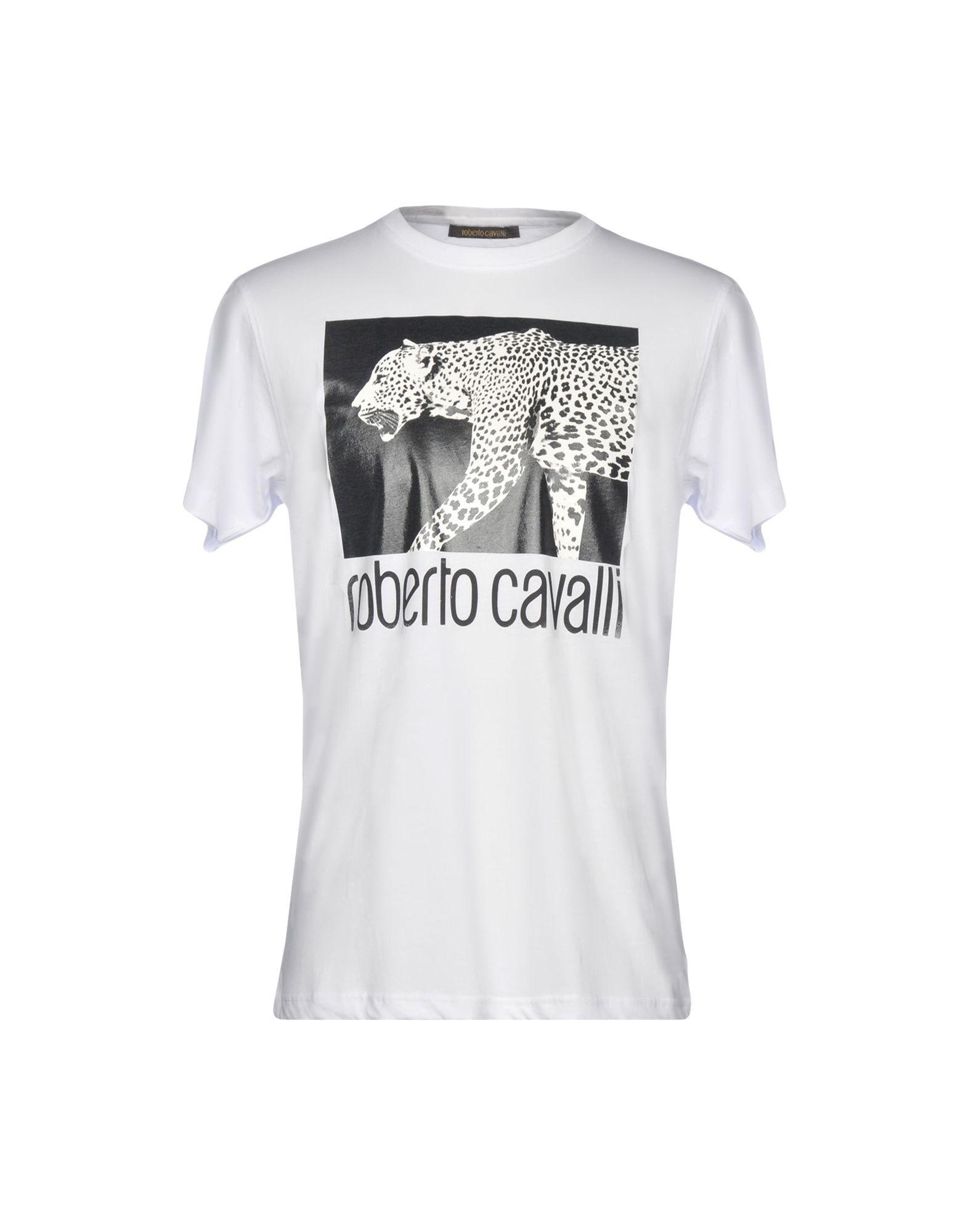 a4e23a5b6 Lyst - Roberto Cavalli T-shirt in White for Men