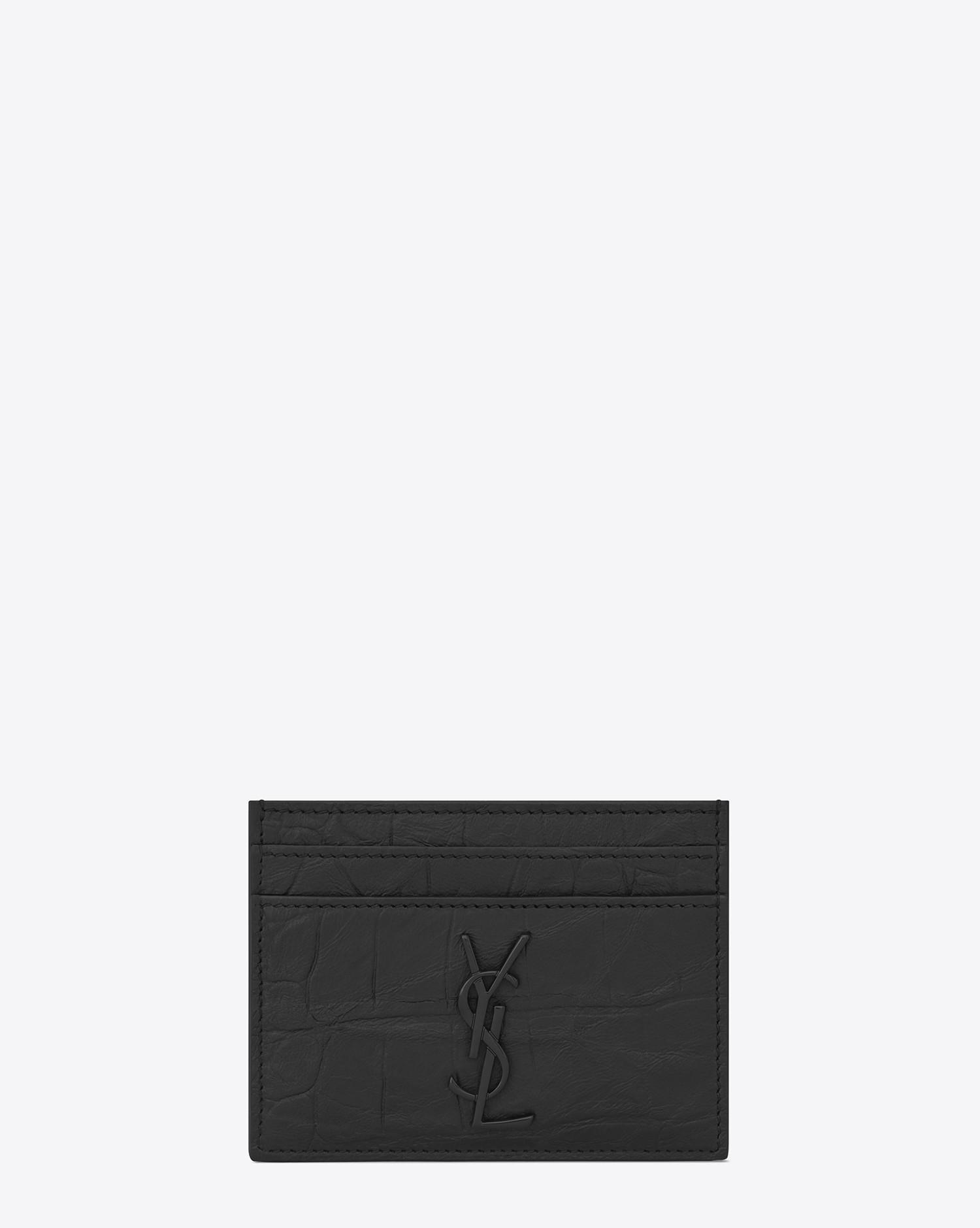 saint laurent mens black monogram card case - Monogram Card Holder