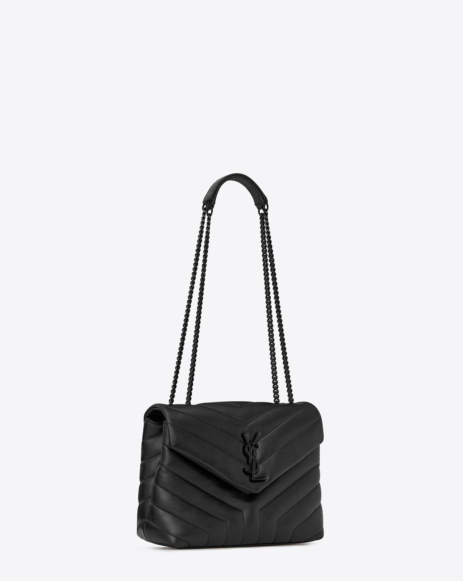 a38d13a5af18 Lyst - Saint Laurent Monogramme Loulou in Black