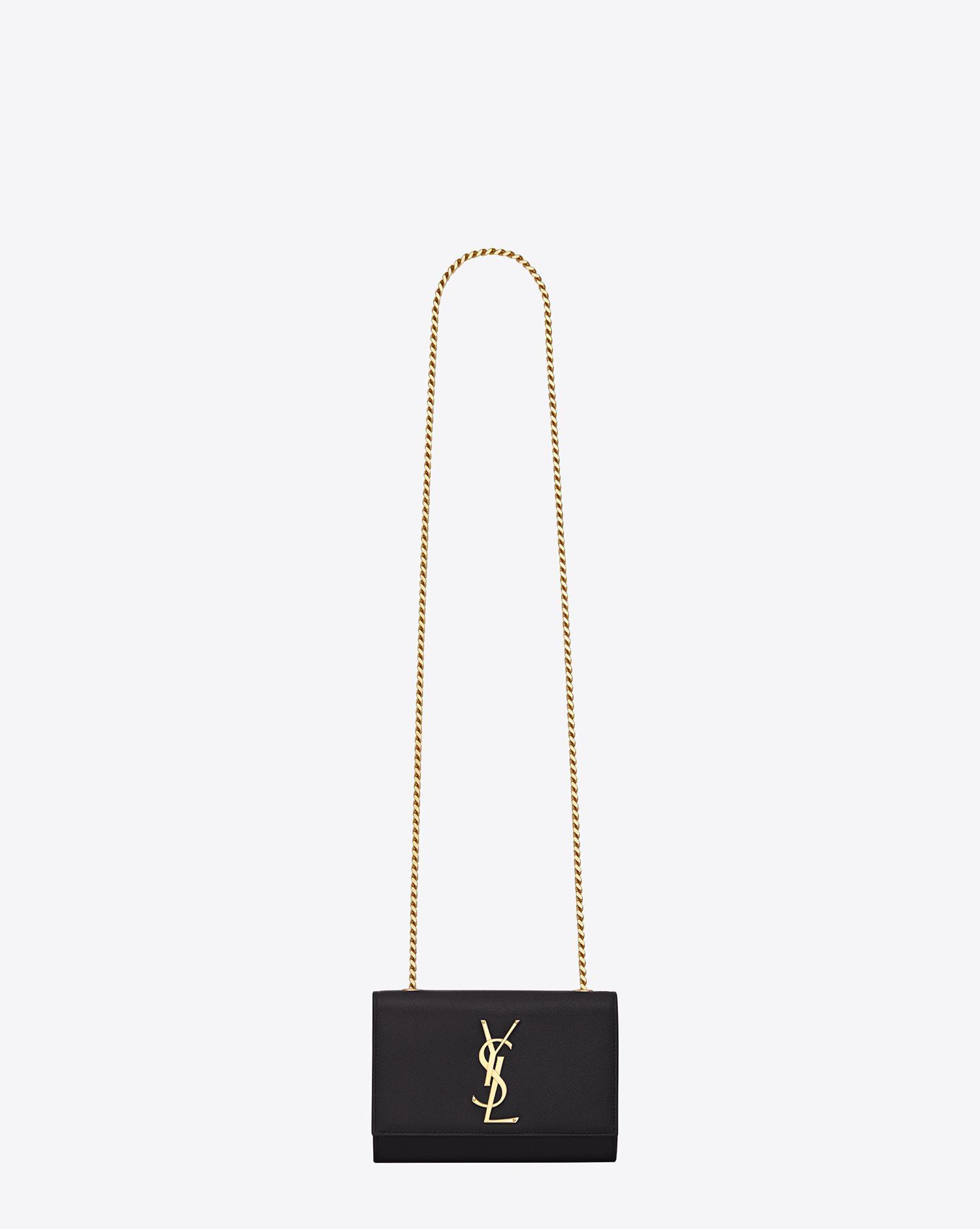 c1f8471a6b Saint Laurent - Black Classic Small Monogram Leather Shoulder Bag - Lyst.  View fullscreen