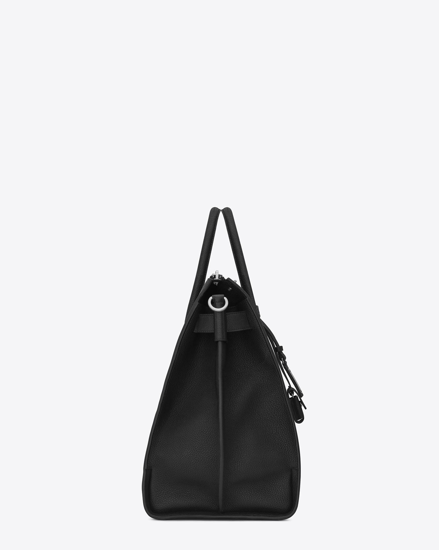 1da682e610cd Lyst - Saint Laurent Sac De Jour 48h Duffle Bag In Grained Leather in Black  for Men