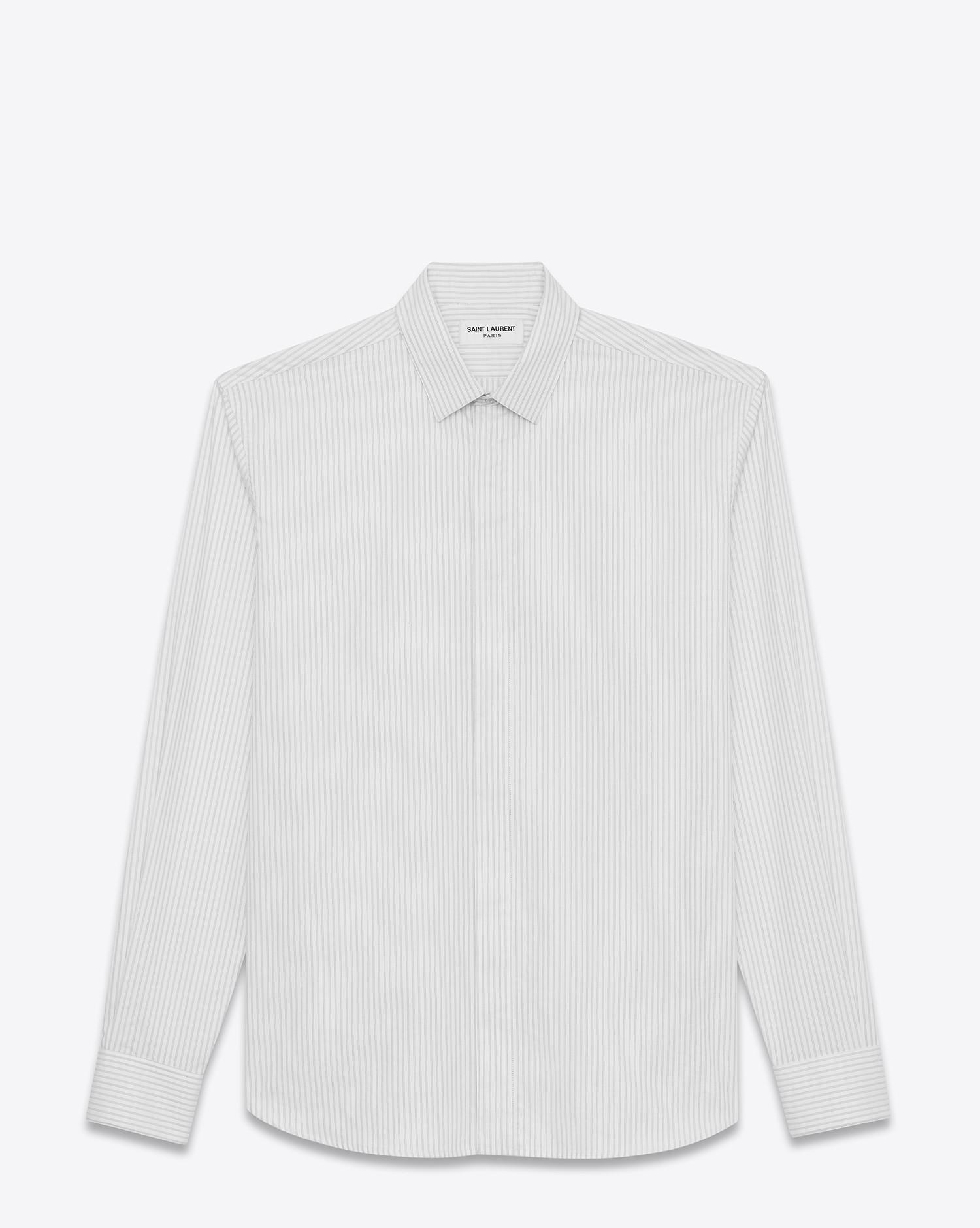 Discount From China classic shirt - White Saint Laurent Cheap Very Cheap Outlet Low Price Fee Shipping Many Kinds Of For Sale For Sale Cheap Real 2EoSsy