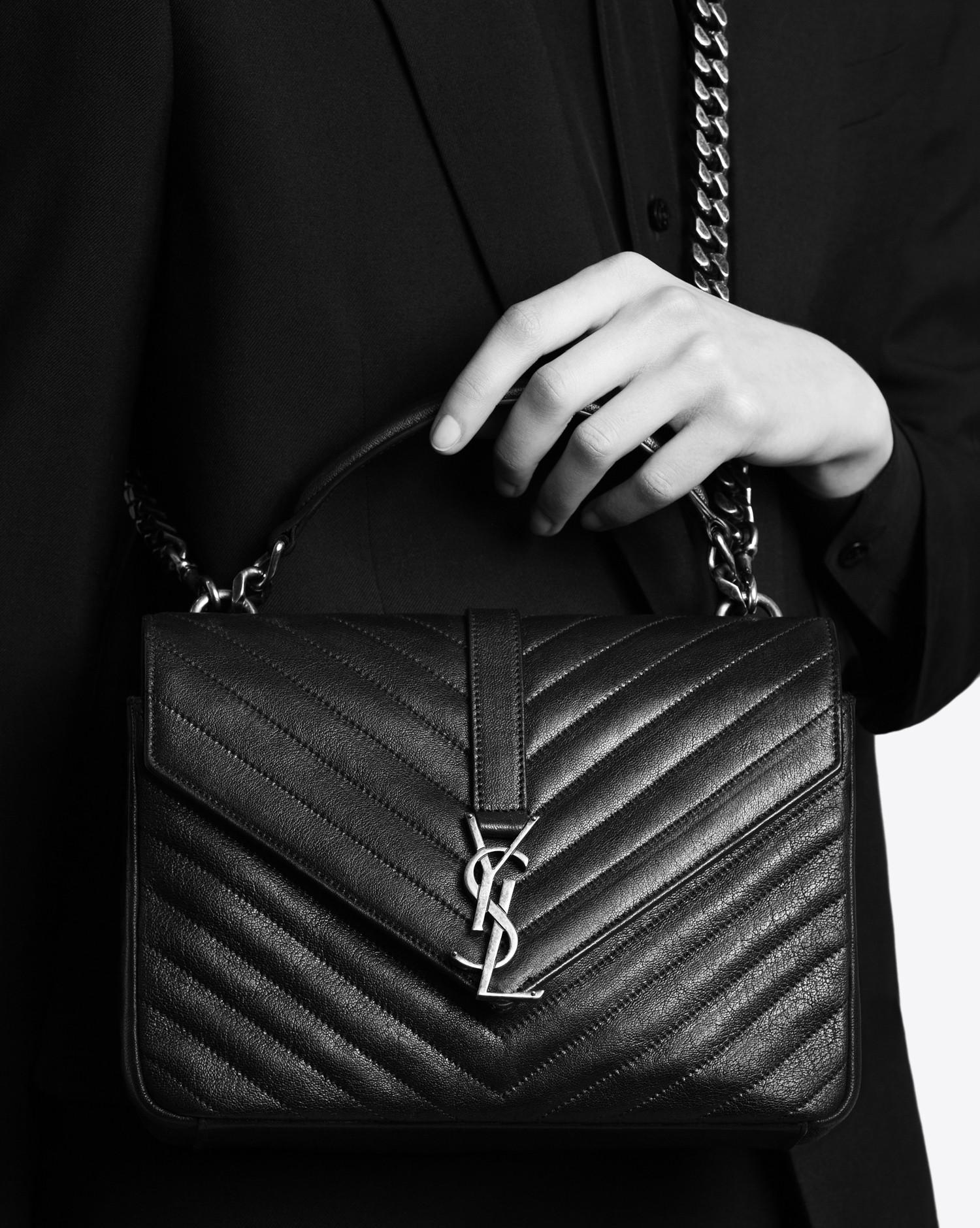 29df3d49f68b Saint Laurent - Black Monogram College Medium Quilted Leather Shoulder Bag  - Lyst. View fullscreen