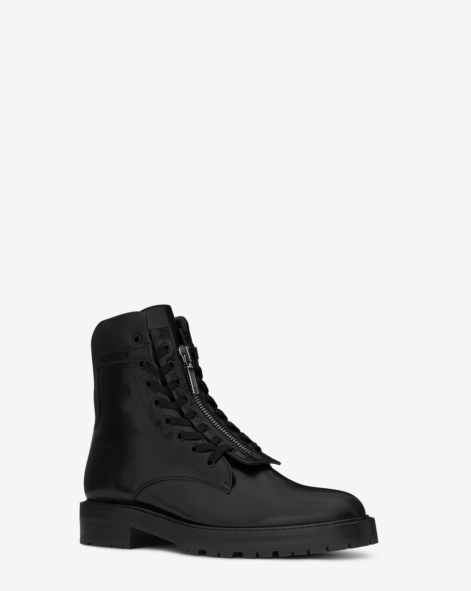 Saint Laurent Boots WILLIAM 20 leather braided