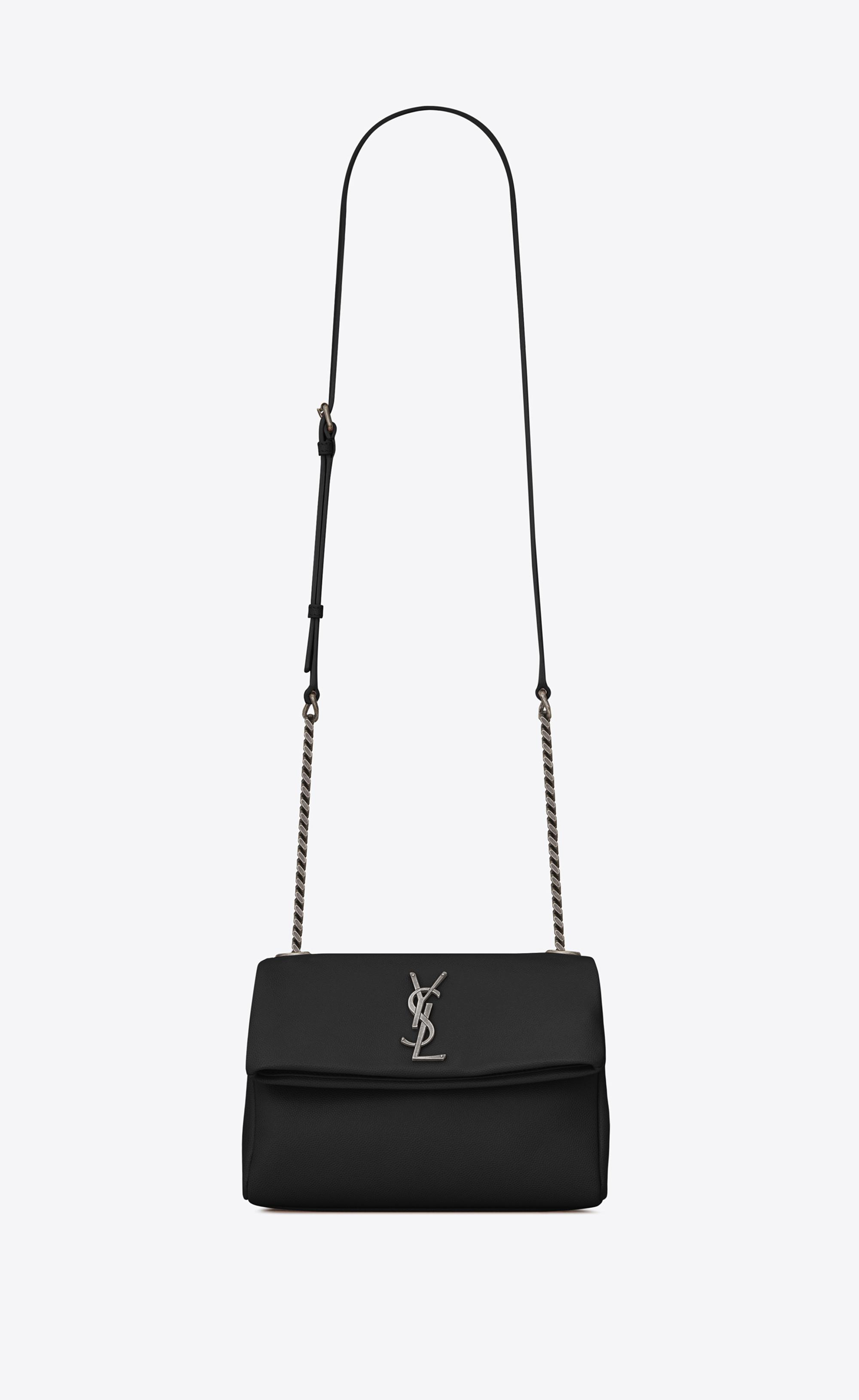 2d04a52aa9 Saint Laurent Small West Hollywood Bag In Black Textured Leather in ...