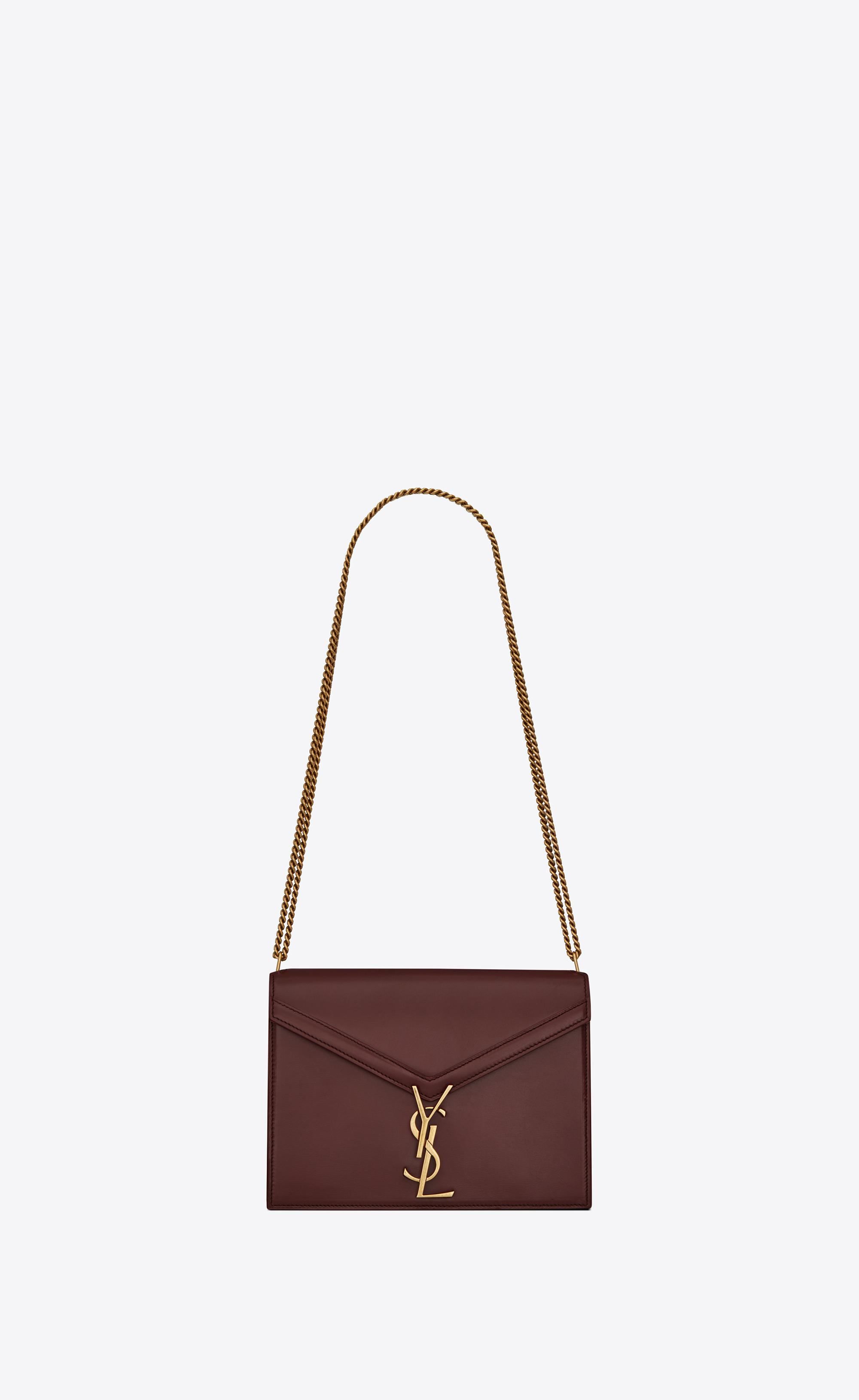 ea735756970c Saint Laurent. Women s Red Cassandra Monogram Clasp Bag In Smooth Leather