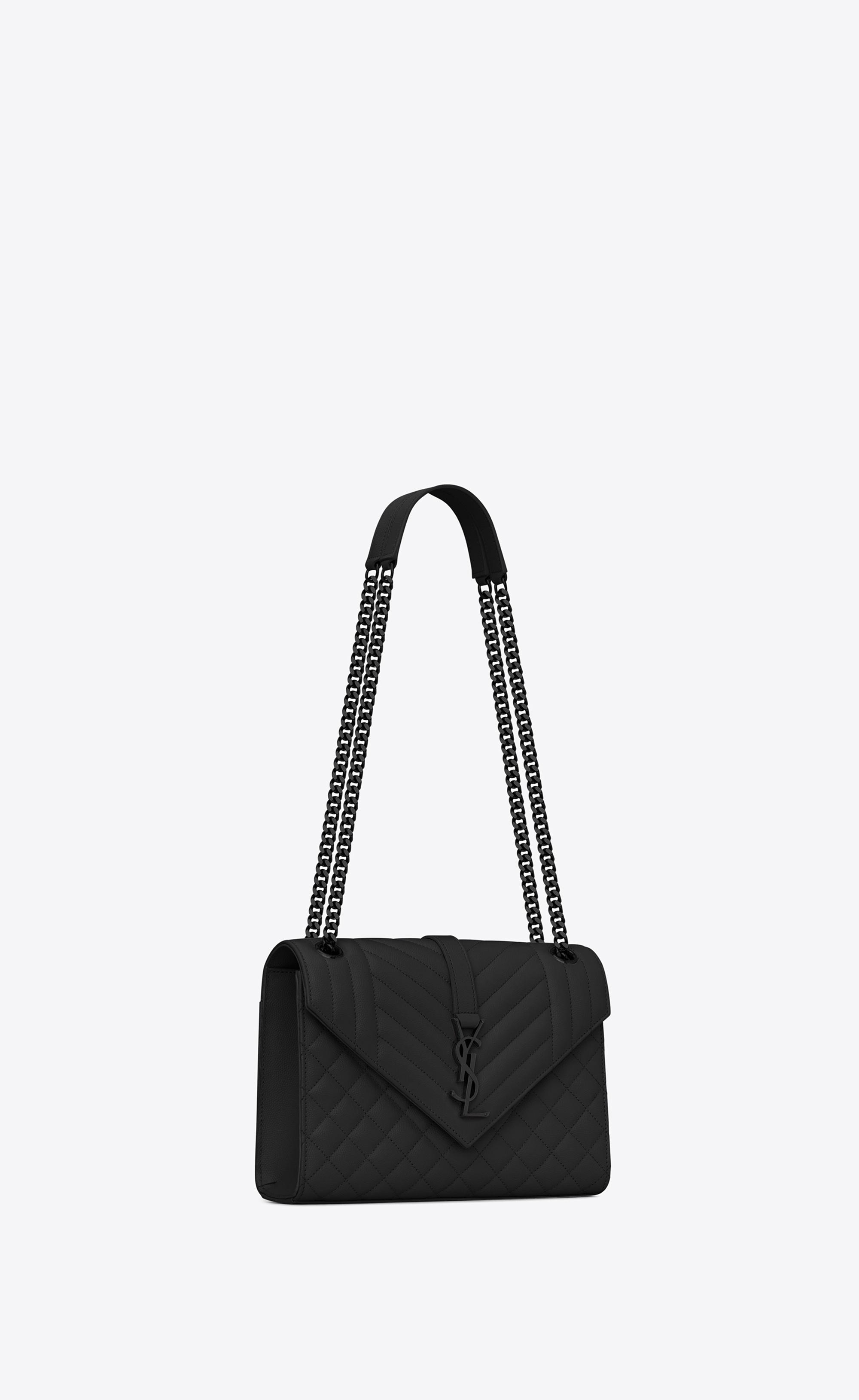 0fd69b505312 Saint Laurent Envelope Medium Bag In Grain De Poudre Embossed ...