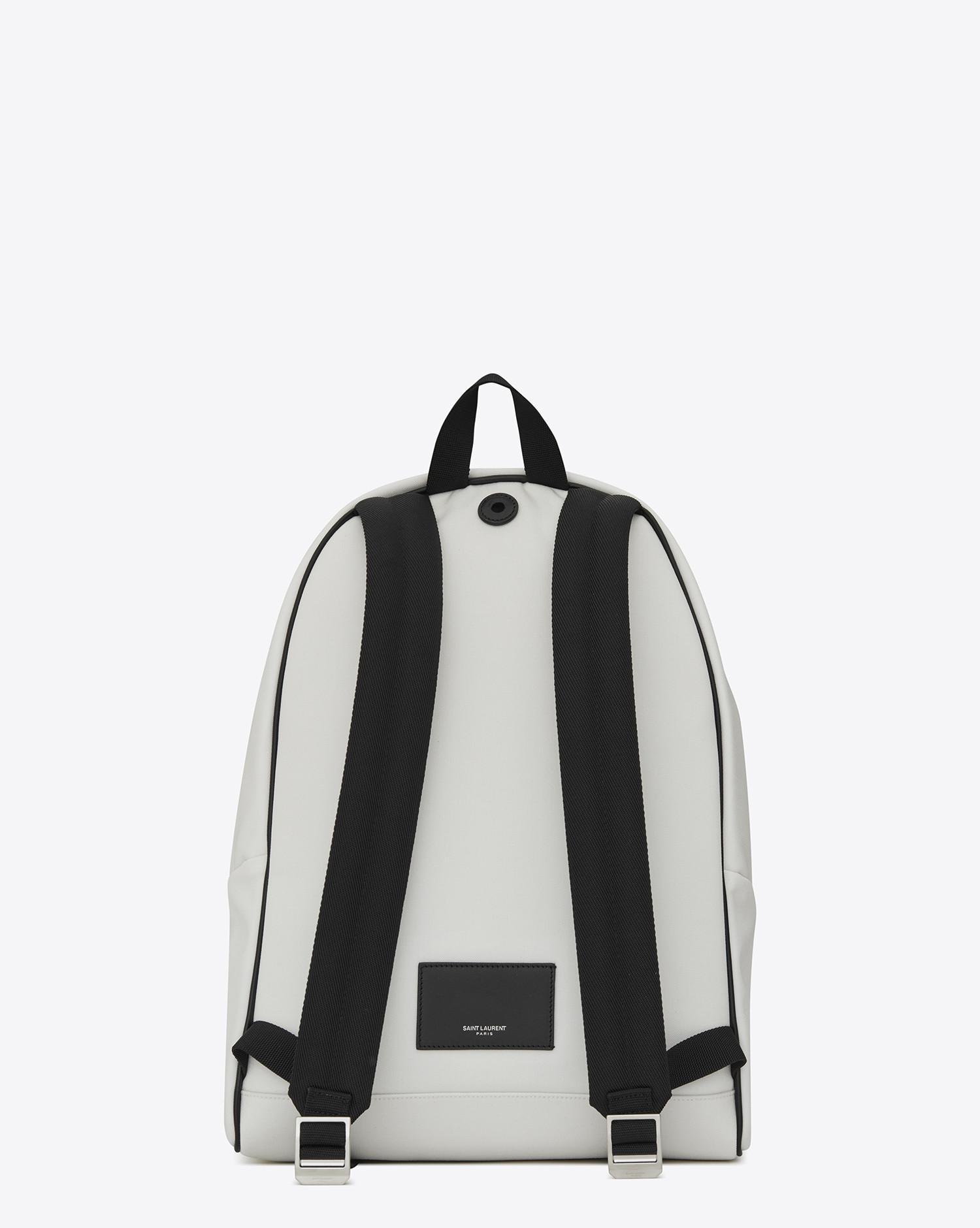 Lyst - Saint Laurent City Print Backpack In White in White for Men 012f4d5602533