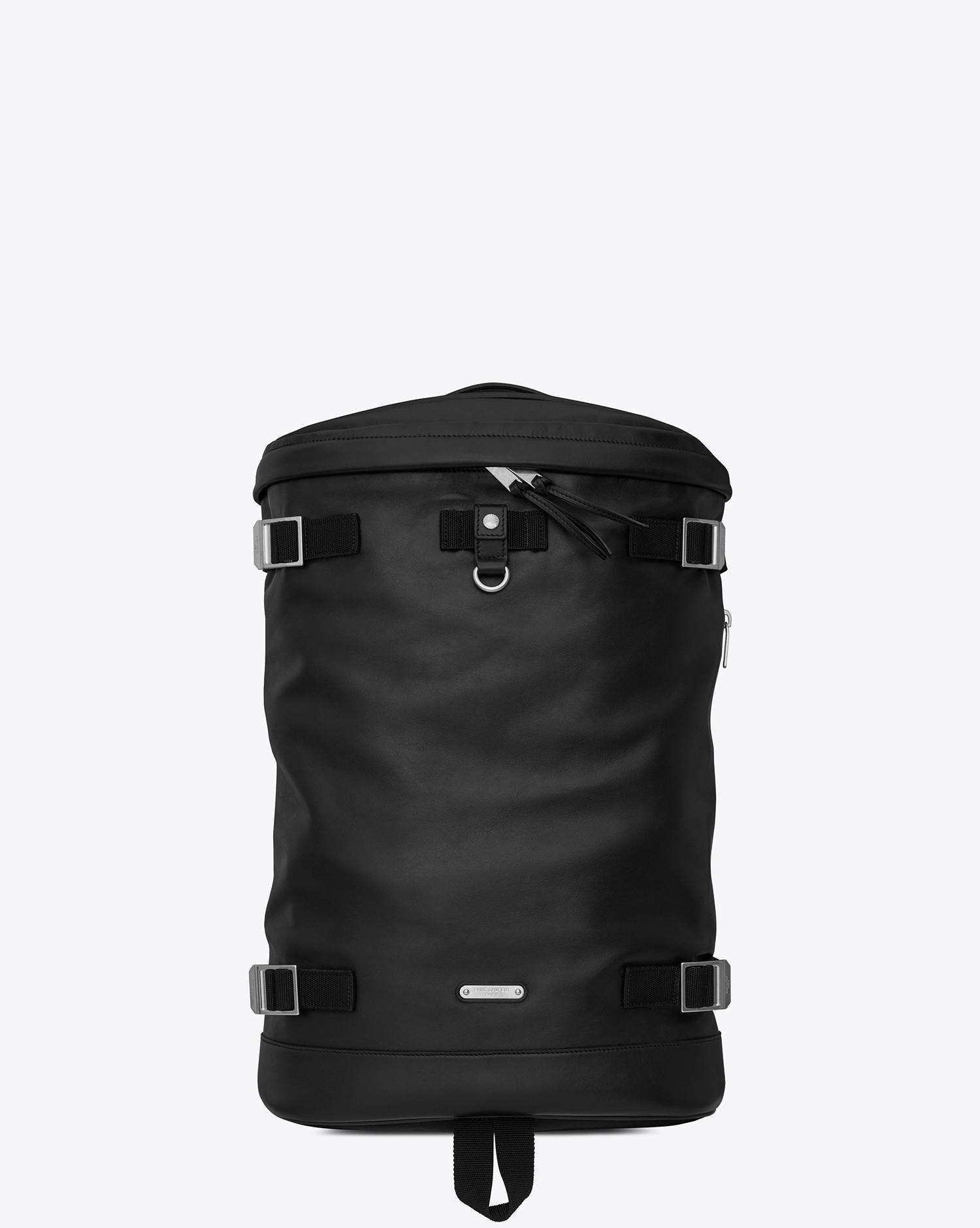 77e2ed281b Lyst - Saint Laurent Buckle Backpacks in Black for Men