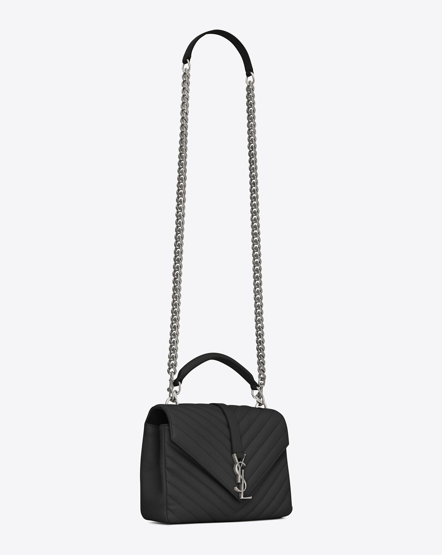 b762d92eda Saint Laurent. Women s Black Monogram College Medium Quilted Leather  Shoulder Bag