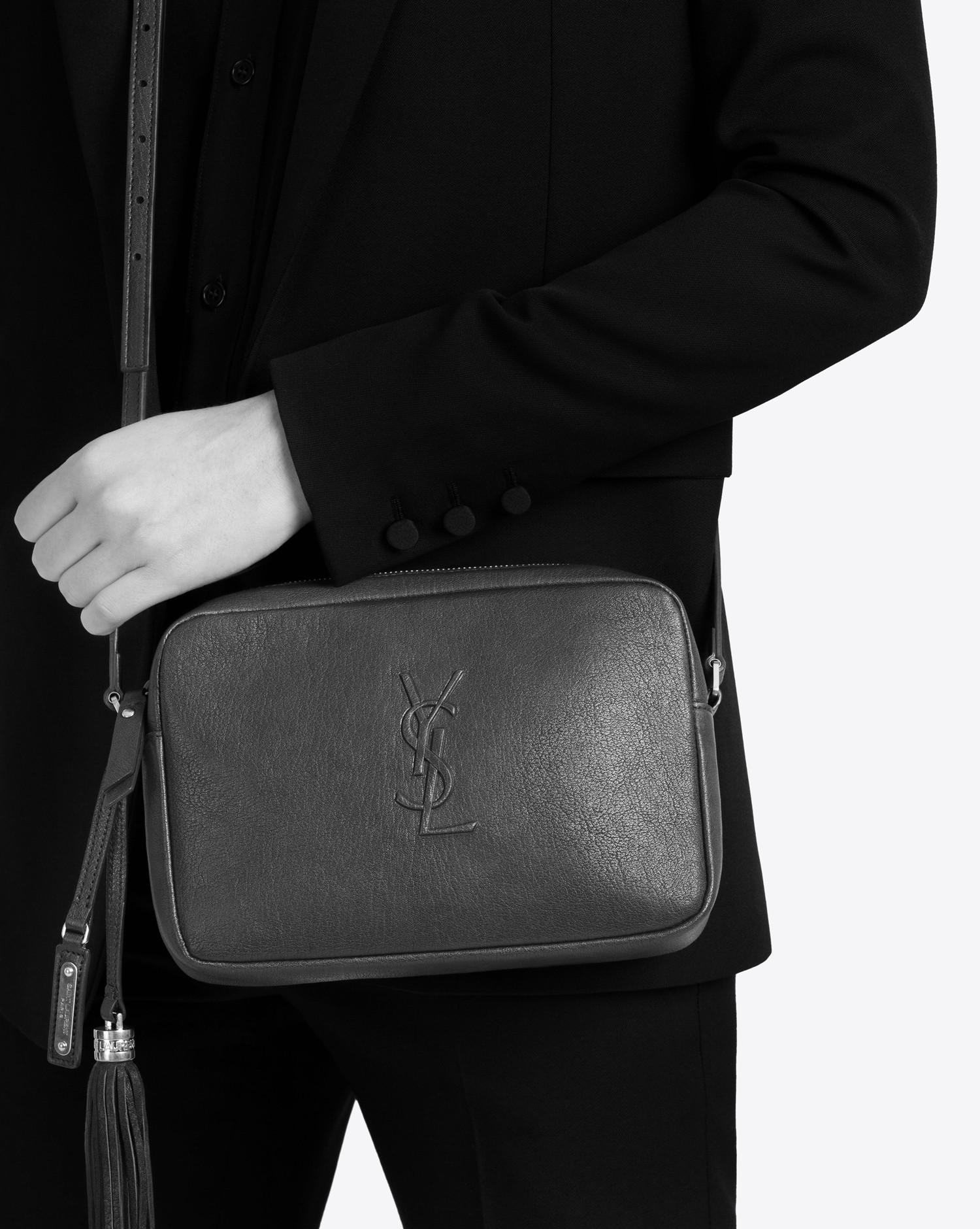 c24376f1906 Saint Laurent Small Monogram Lou Camera Bag In Fog Leather - Lyst
