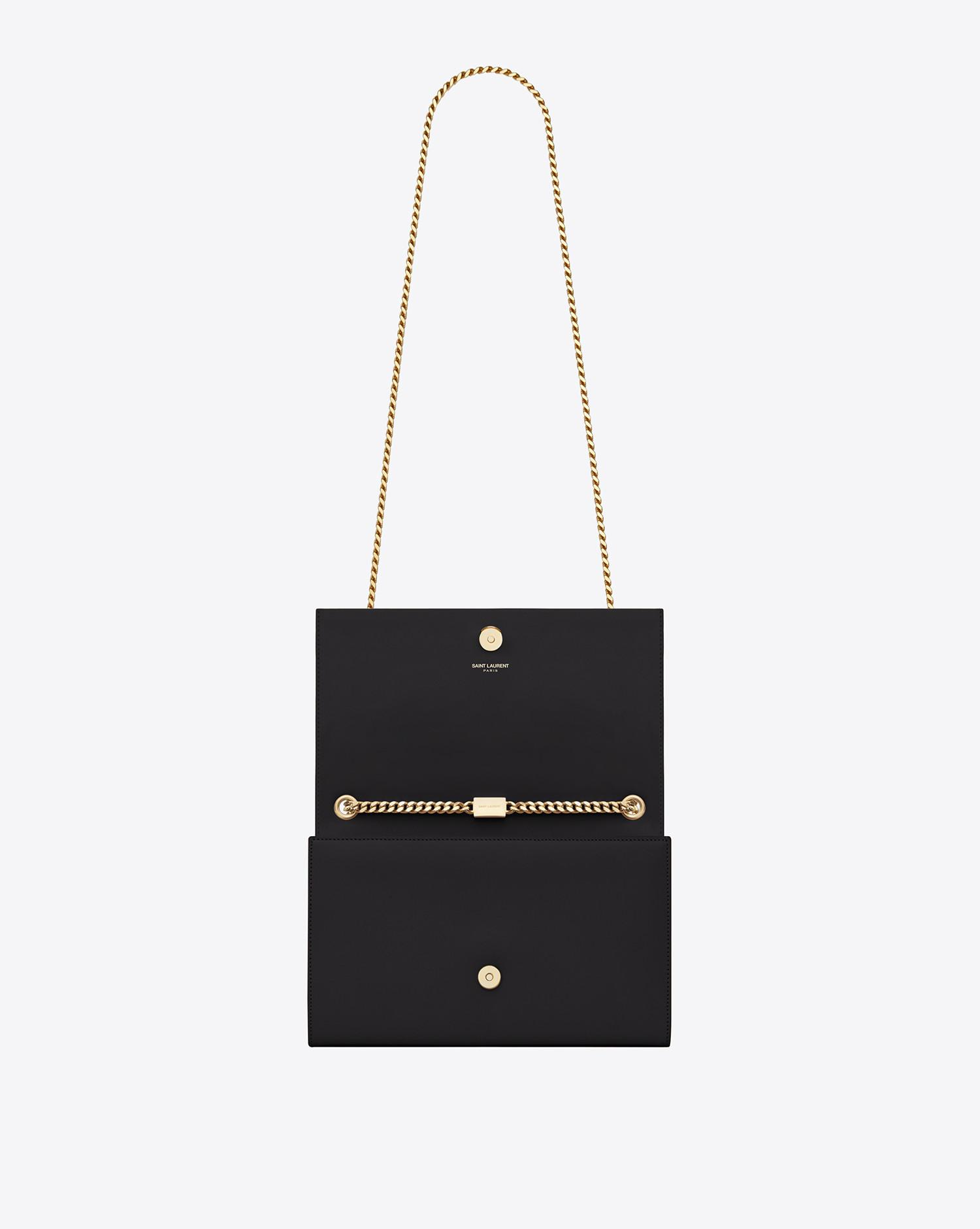 2c50851be1 Saint Laurent - Black Classic Medium Kate Monogram Leather Shoulder Bag -  Lyst. View fullscreen