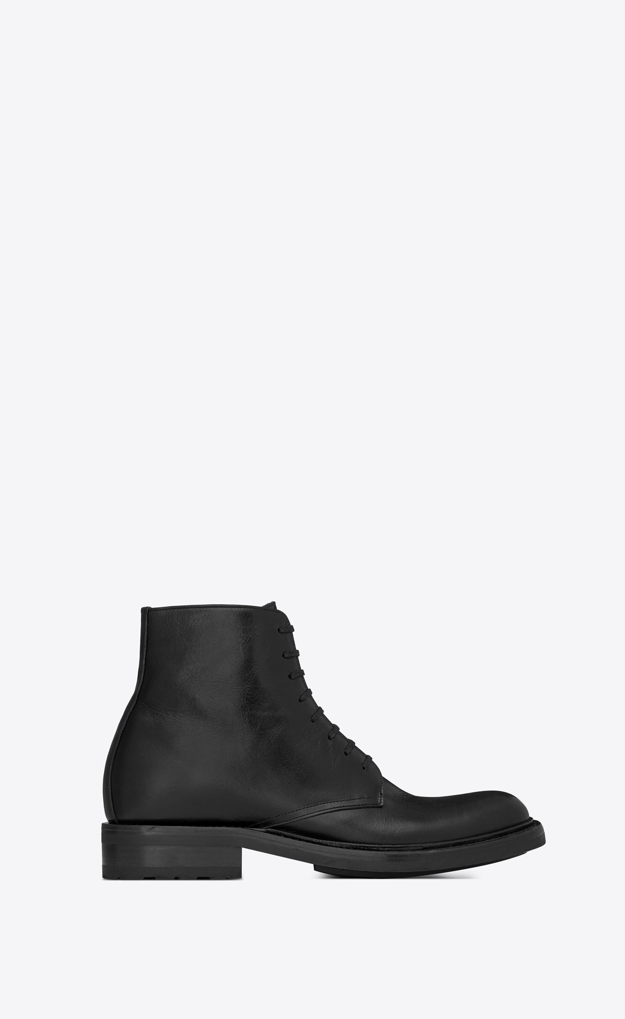 8d58d87c472 Saint Laurent Army Boots in Black - Lyst