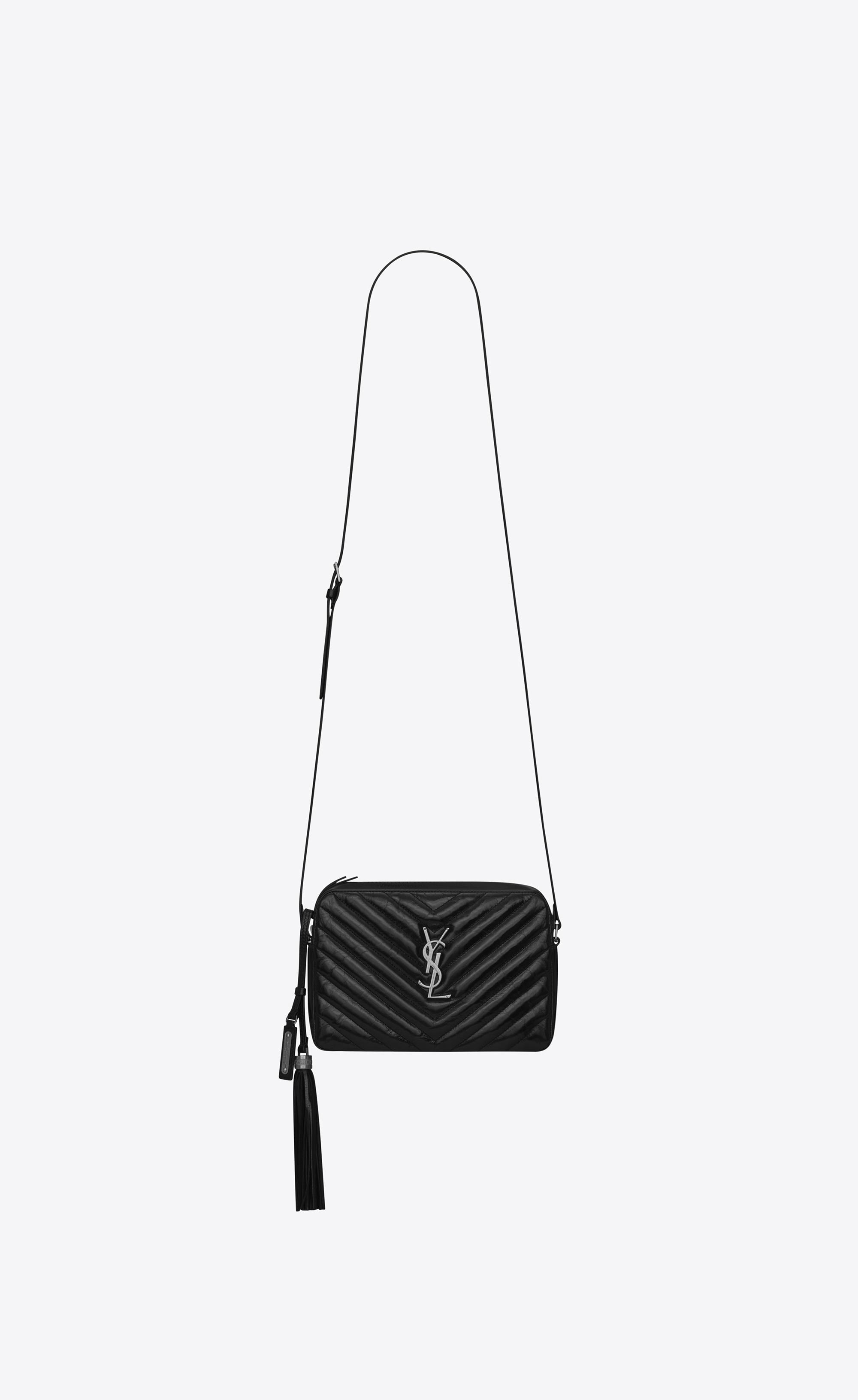 e63f95326921 Saint Laurent Lou Small Matelassé Leather Camera Shoulder Bag in ...