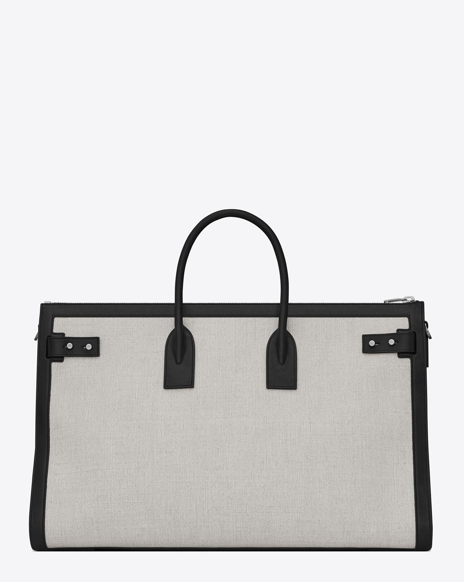 fdf07e767d1 Lyst - Saint Laurent Sac De Jour 48h Duffle Bag In Linen Canvas in ...
