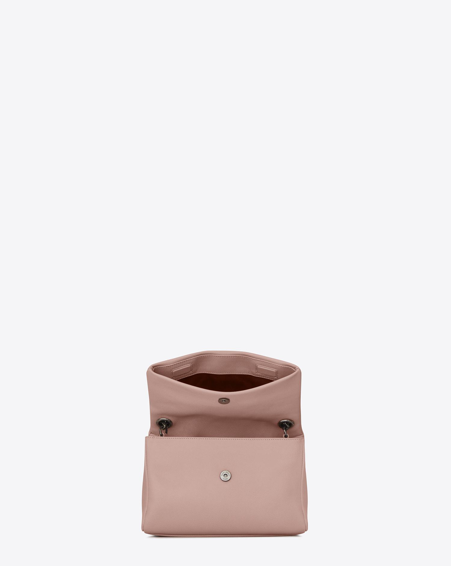 Lyst - Saint Laurent Small West Hollywood Bag In Pale Blush Textured ... e3a3fffeaf4d6