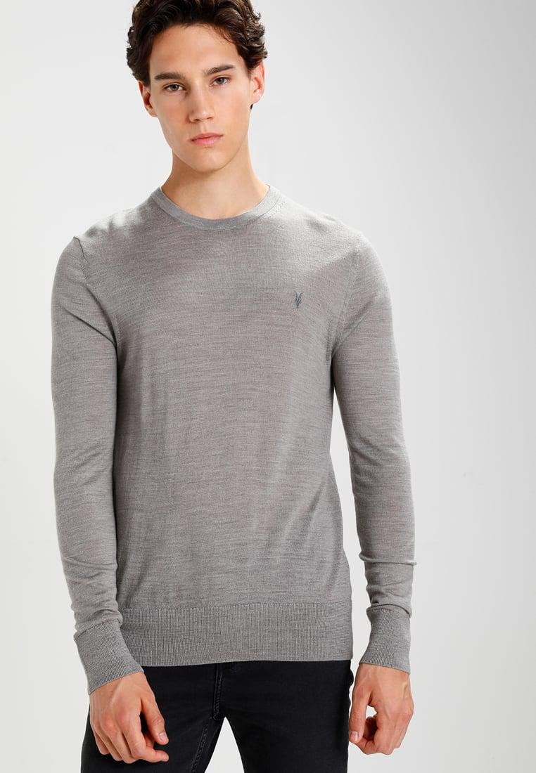 8db19227a2b265 Allsaints Mode Crew Jumper in Grey for Men - Save 30% | Lyst