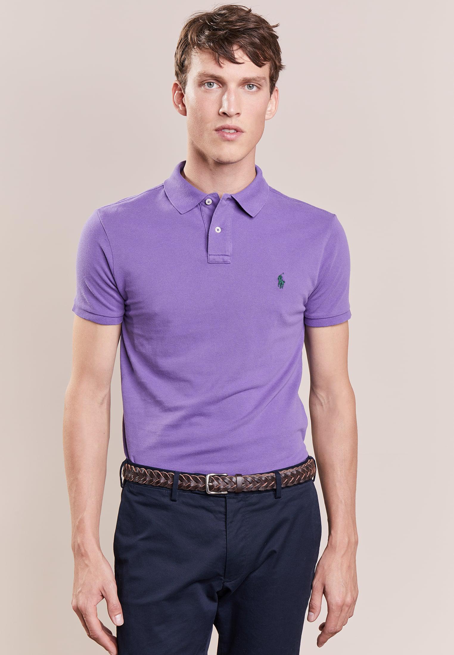 Polo Ralph Lauren. Men's Purple Weathered Slim Fit Polo Shirt
