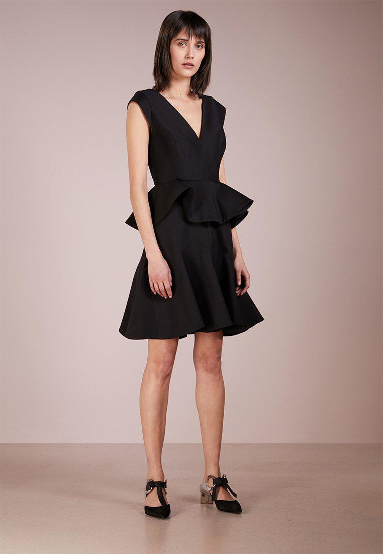 0d993c3b87f2 Lyst - Halston heritage Cap Sleeve Peplum Dress Cocktail Dress ...