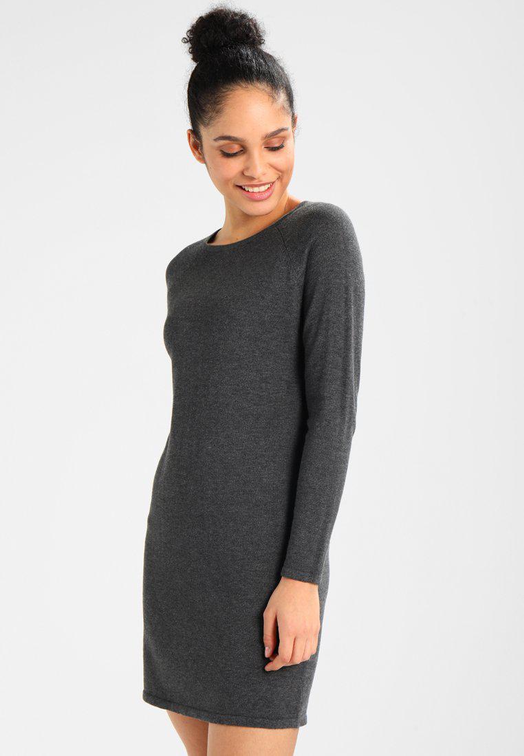 ONLY. Women's Grey Onllaurina Dress Jumper Dress