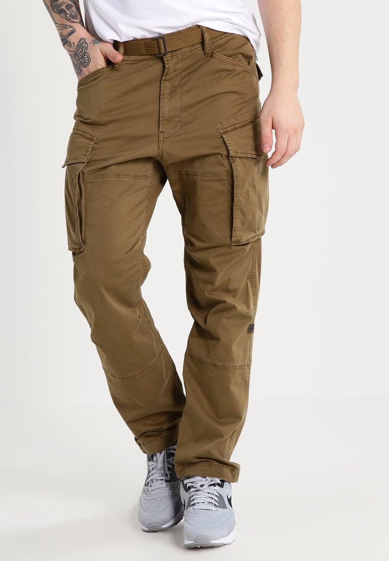 g star raw rovic qane loose 3d cargo trousers in natural. Black Bedroom Furniture Sets. Home Design Ideas