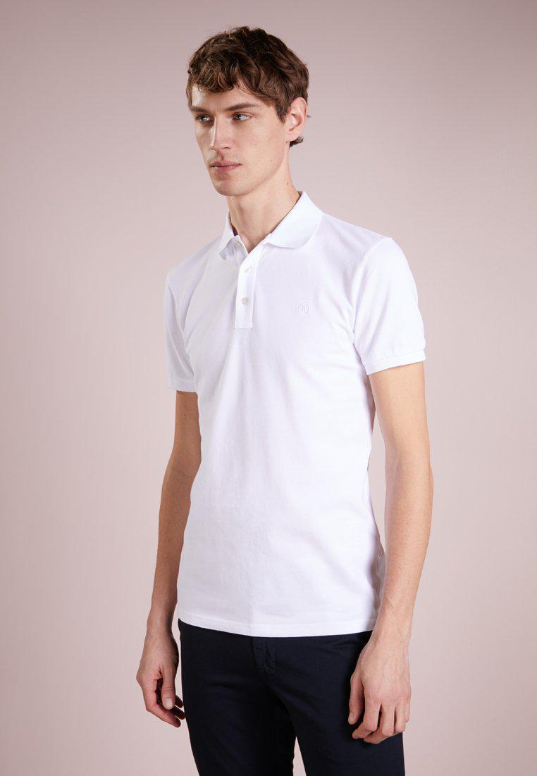 Bogner. Men's White Fil Polo Shirt