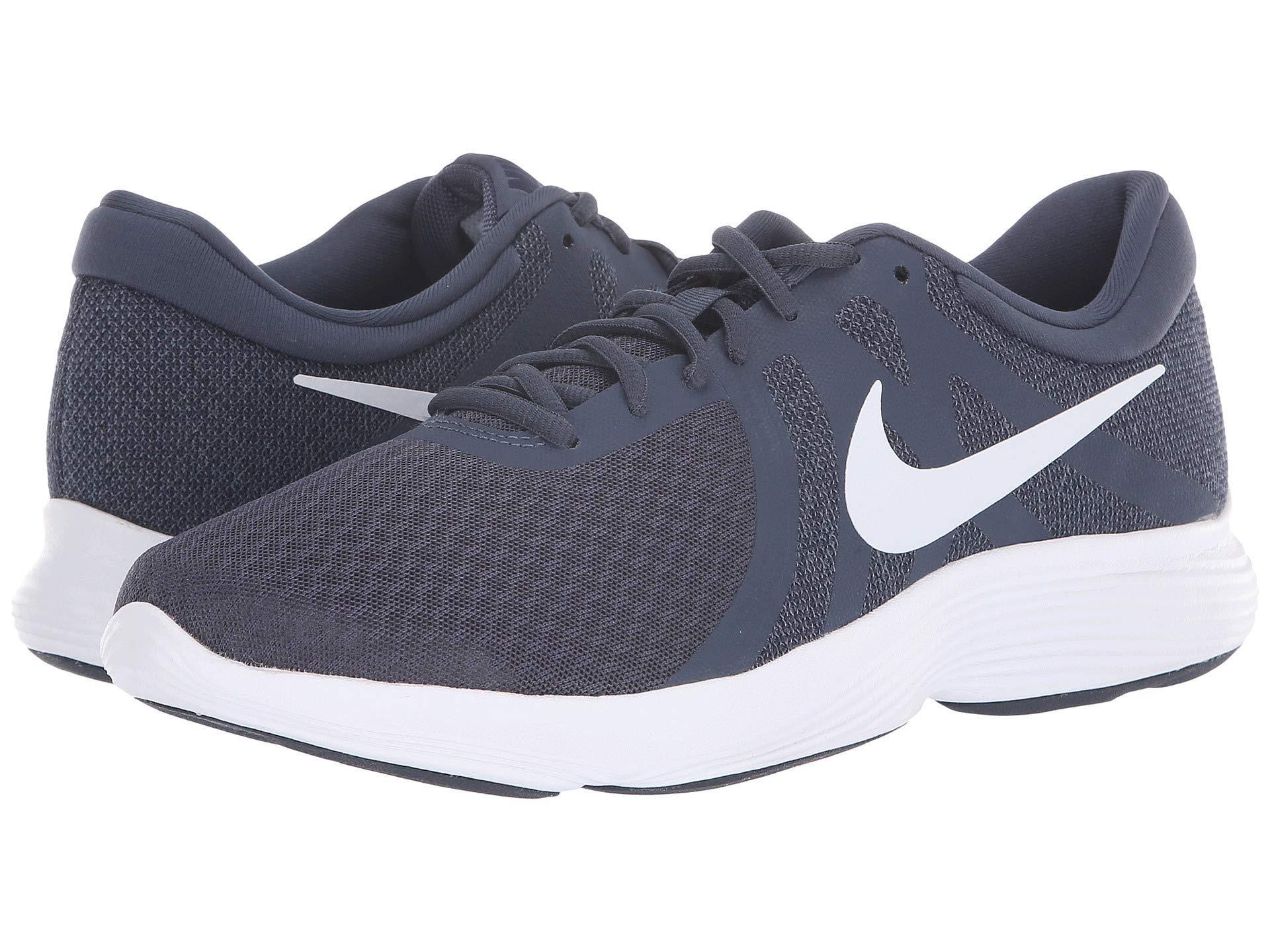 049ecf4b94fdc Nike. Gray Revolution 4 (midnight Navy white deep Royal Blue) Men s Running  Shoes