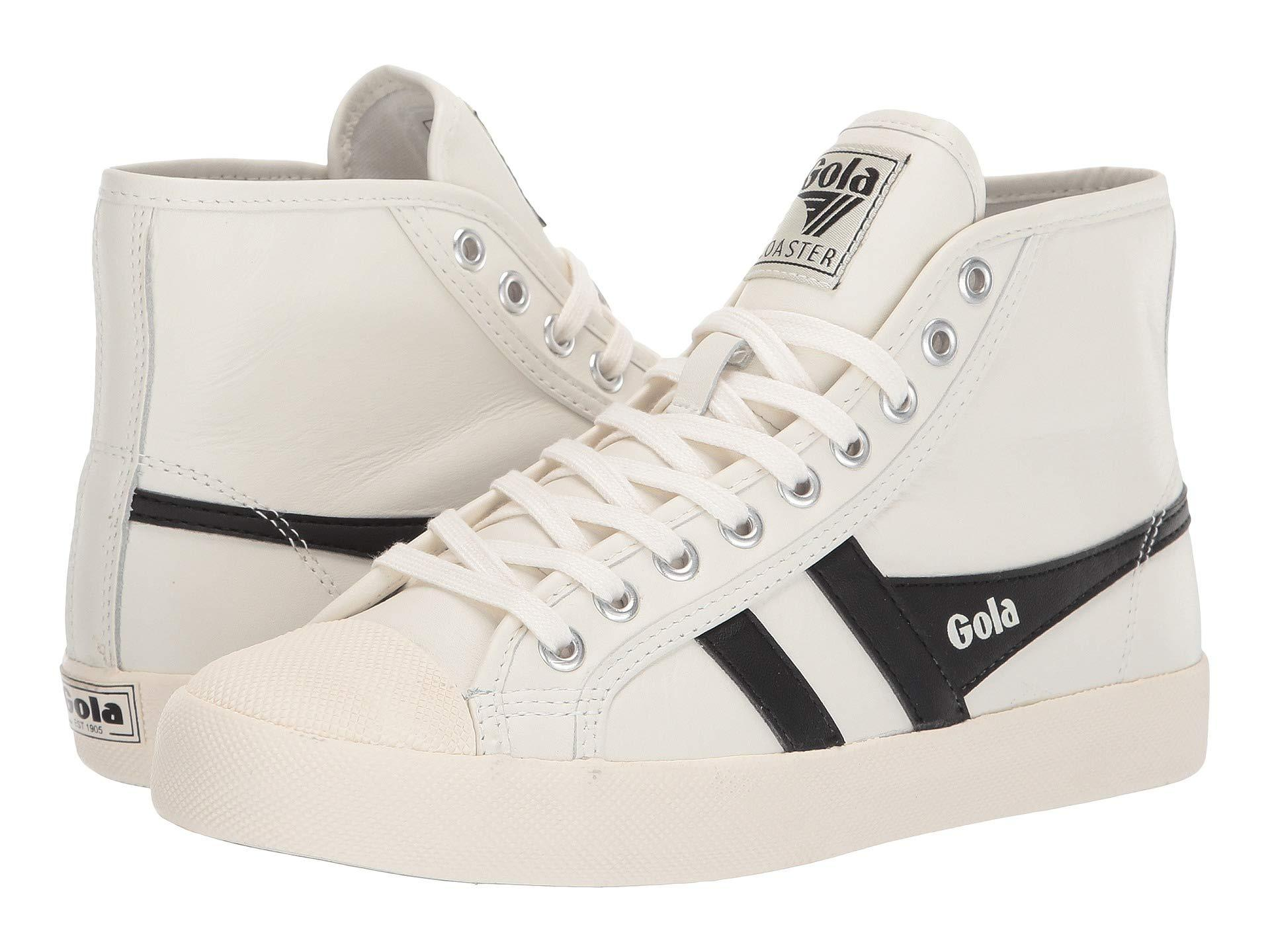 71337118788 Lyst - Gola Coaster High Leather (off-white black) Women s Shoes in ...