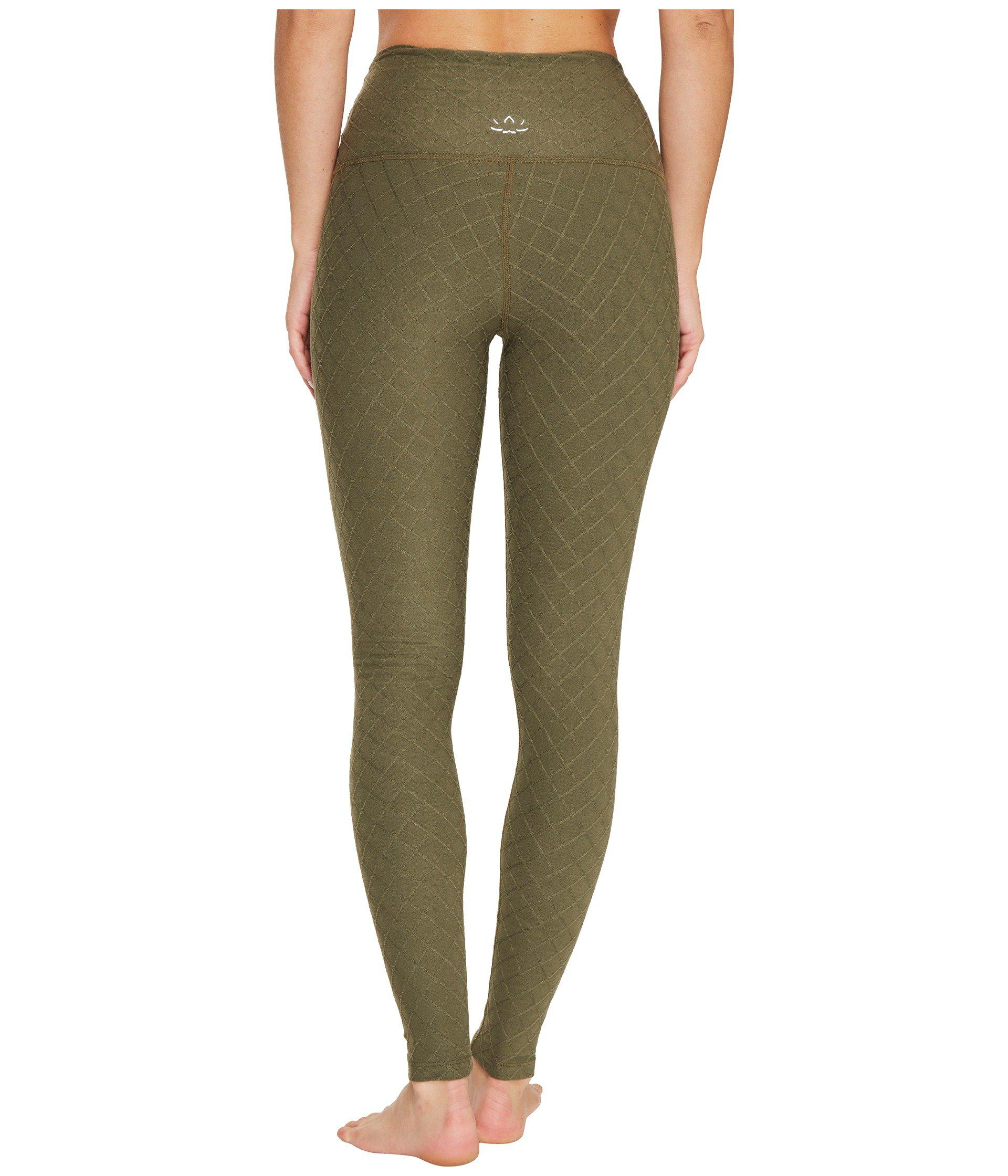 26626c7380f139 Beyond Yoga Can't Quilt You High Waisted Leggings in Green - Lyst