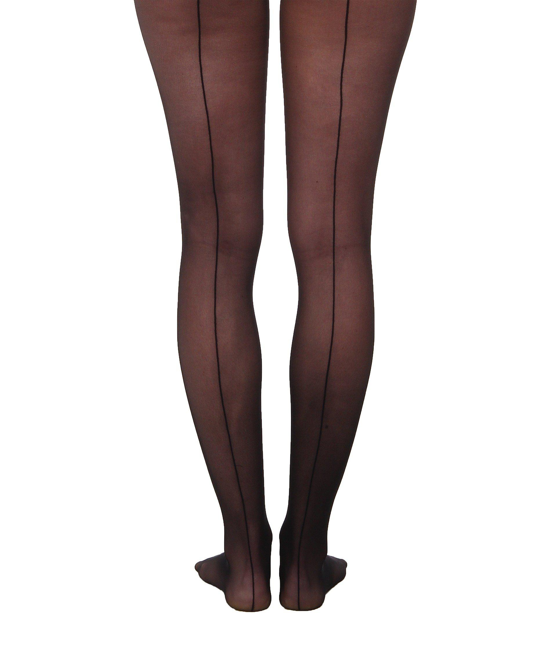 75f8fc314e9 Wolford Individual 10 Back Seam Tights (black) Hose in Black - Lyst