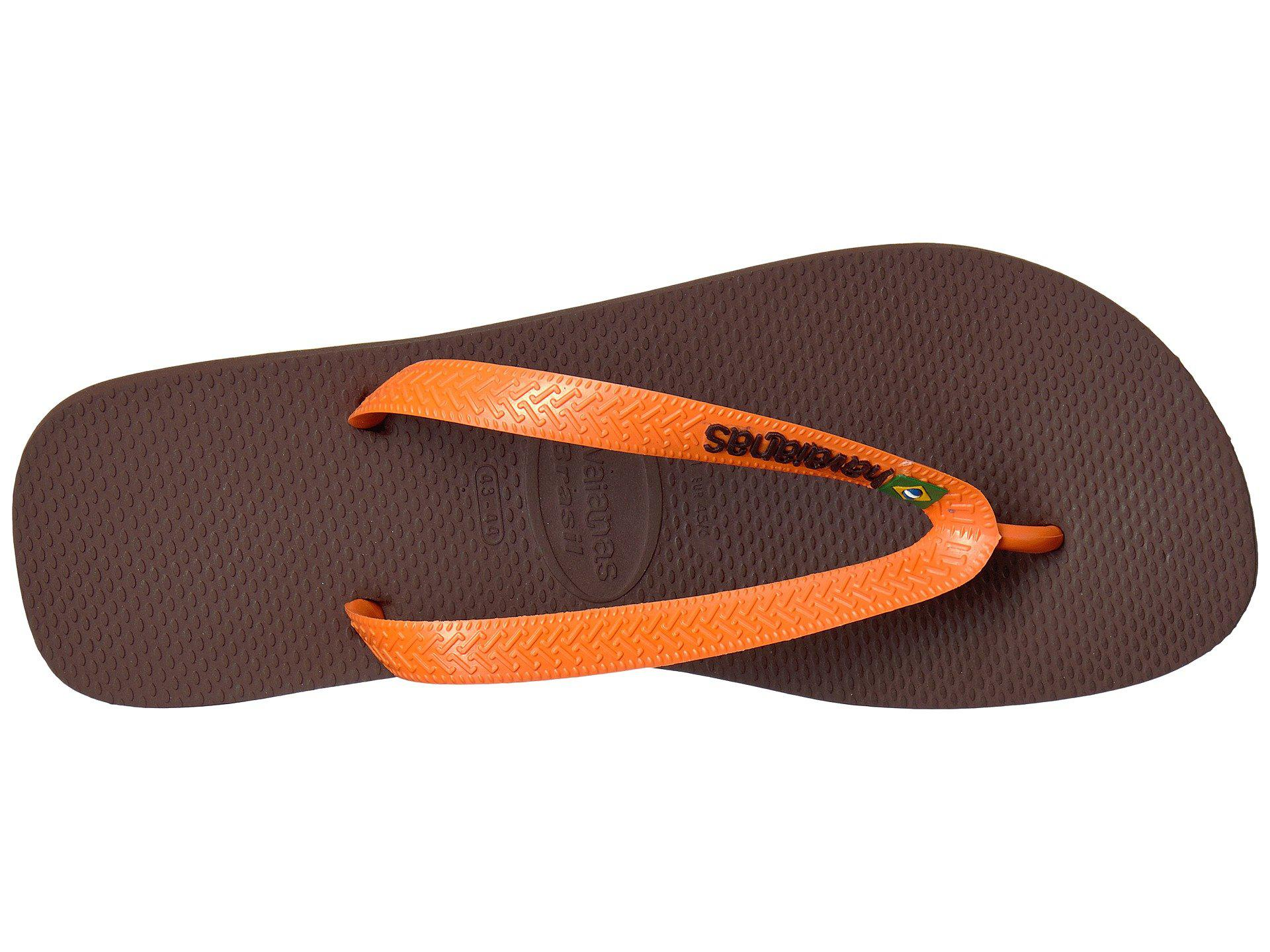 6dd60a394e Havaianas - Brown Brazil Logo Flip Flops (red) Men s Sandals for Men -  Lyst. View fullscreen