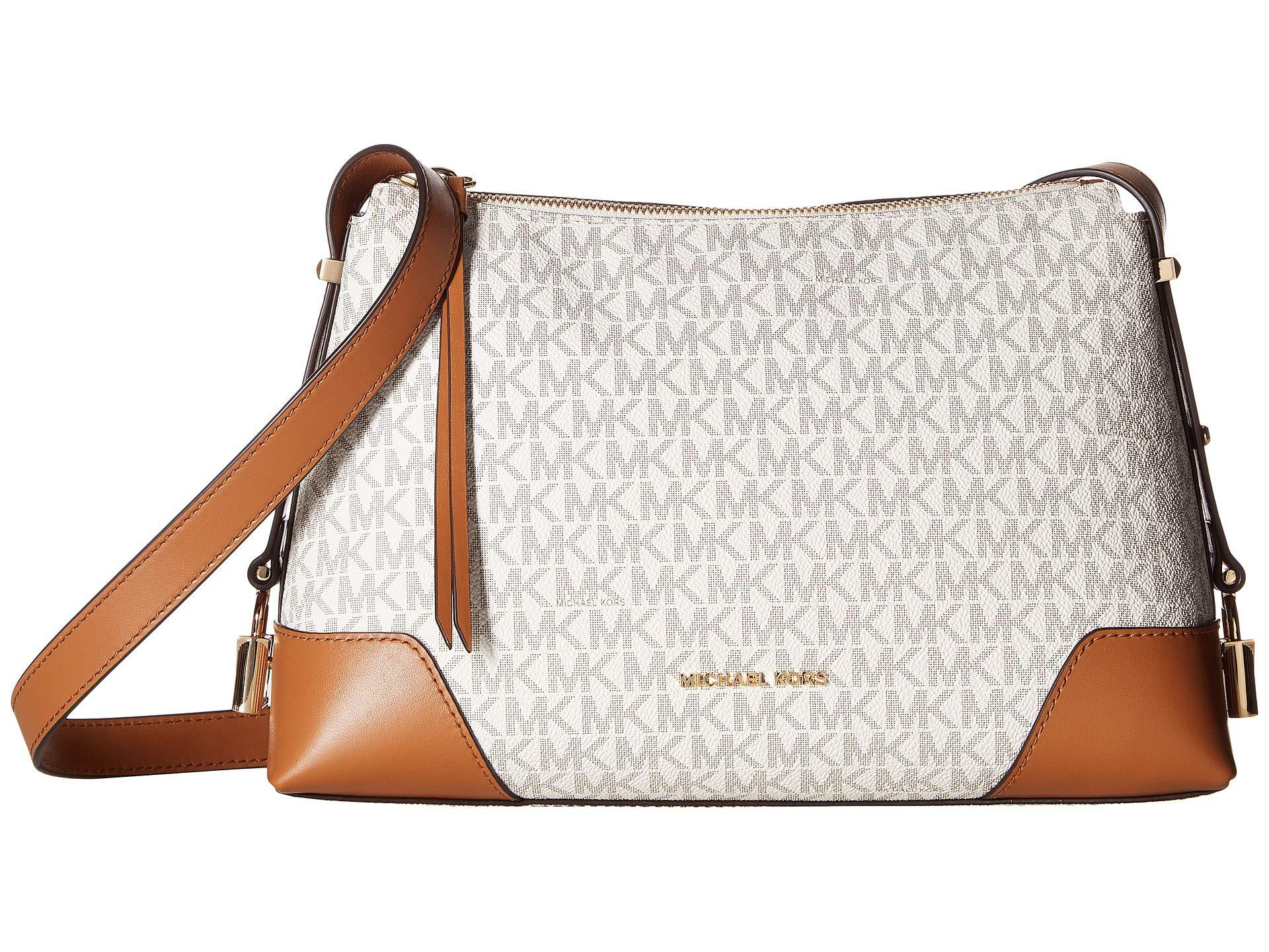 157dfc2994debf MICHAEL Michael Kors. Women's Crosby Medium Messenger (vanilla/acorn) Cross  Body Handbags