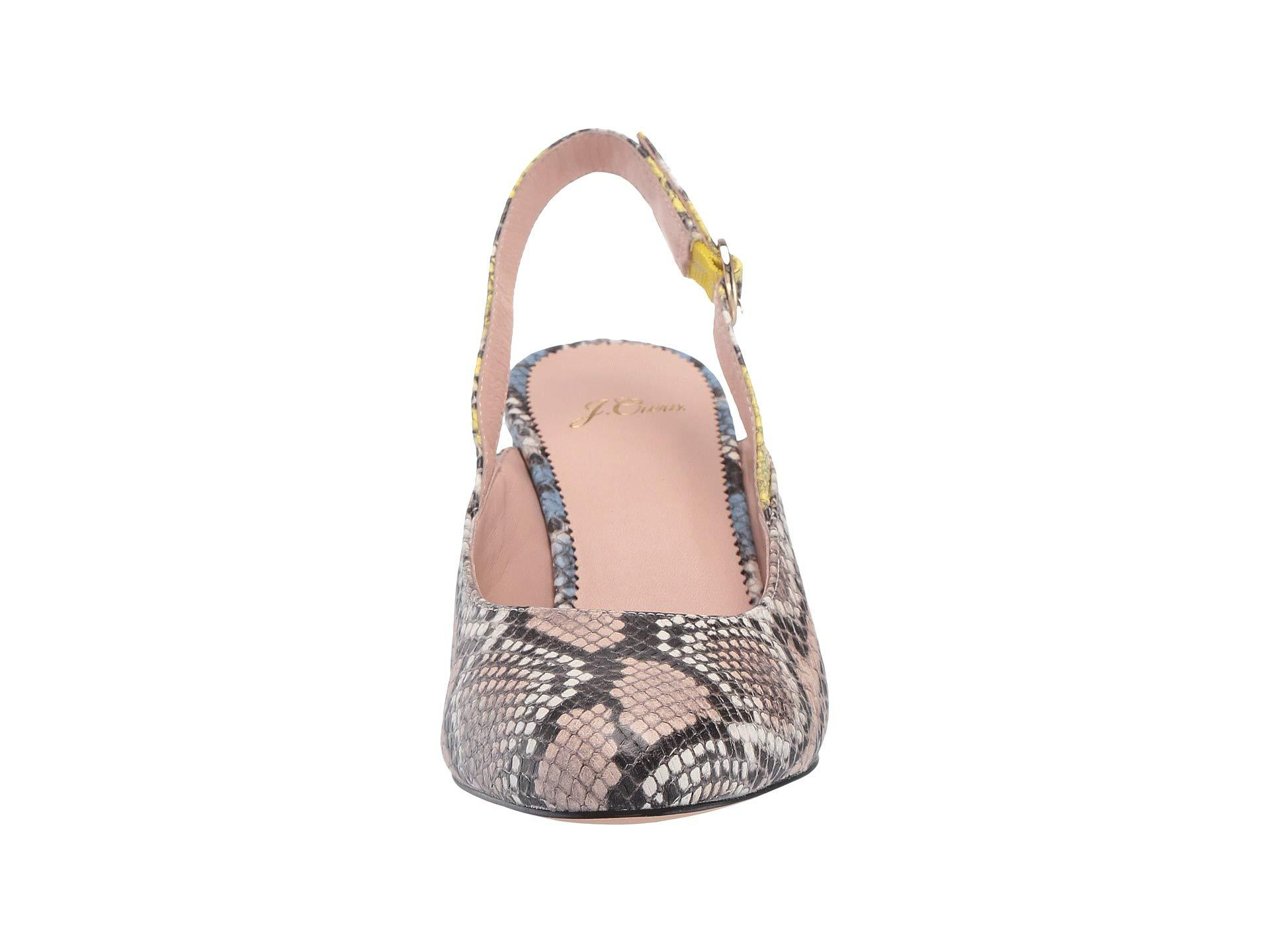 62671a12dc0 J.Crew - Slingback Sage Pump In Mixed Snake (sunwashed Pink) Women s Shoes.  View fullscreen