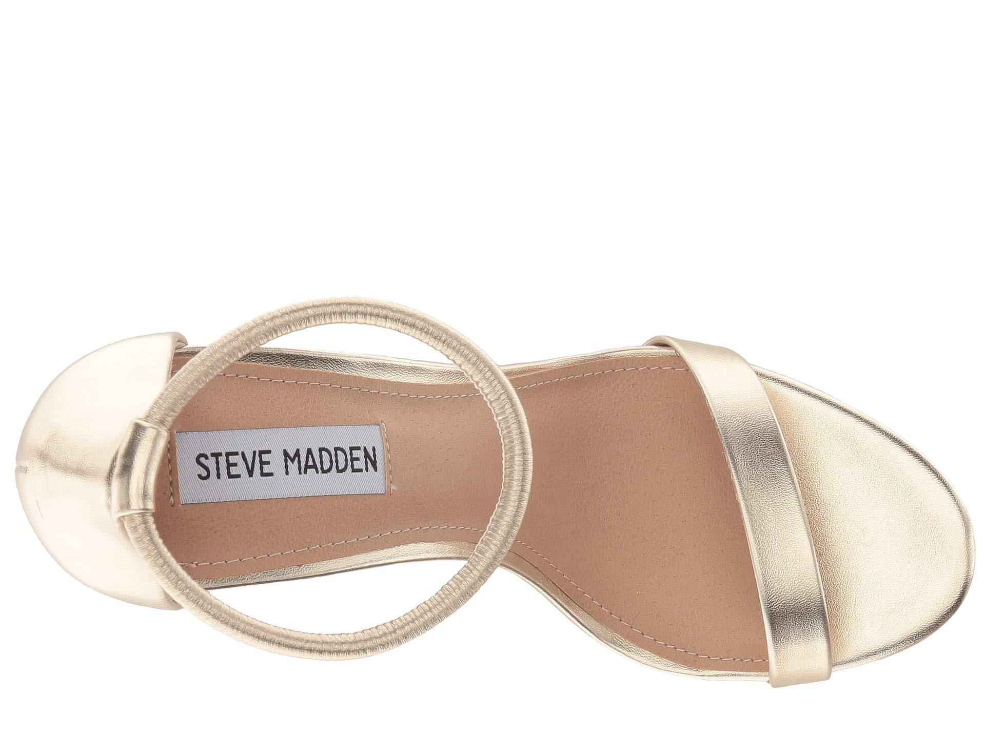 d8d4123e355 Lyst - Steve Madden Soph Heeled Sandal (silver) High Heels in Natural