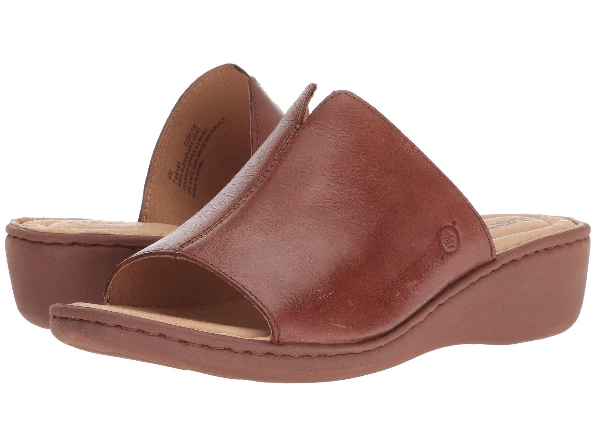 54c7be047042 Lyst - Born Bernt (red Full Grain Leather) Women s Wedge Shoes in Brown