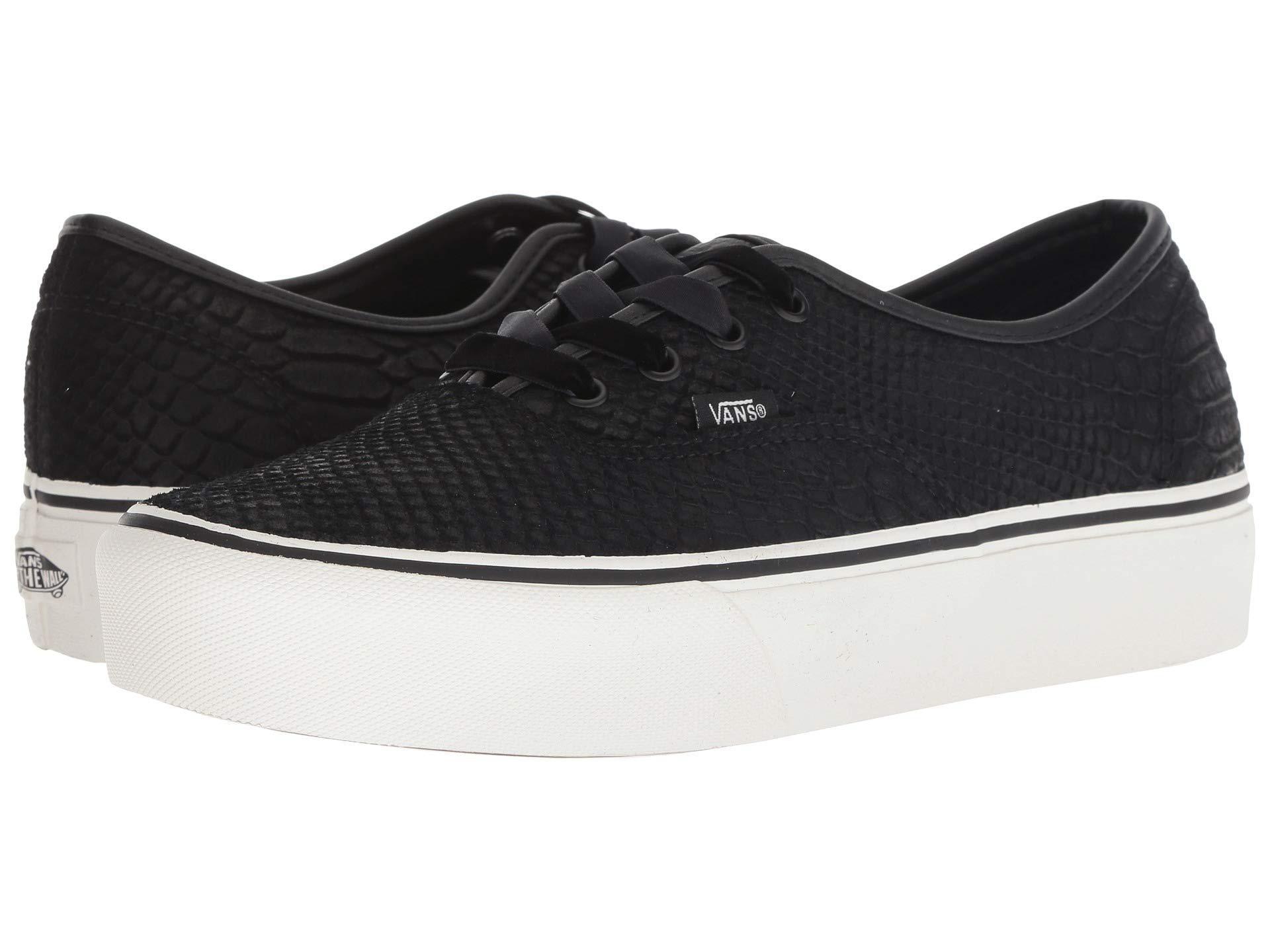 Vans - Authentic Platform 2.0 ((leather) Snake black) Skate Shoes for. View  fullscreen 55246f034
