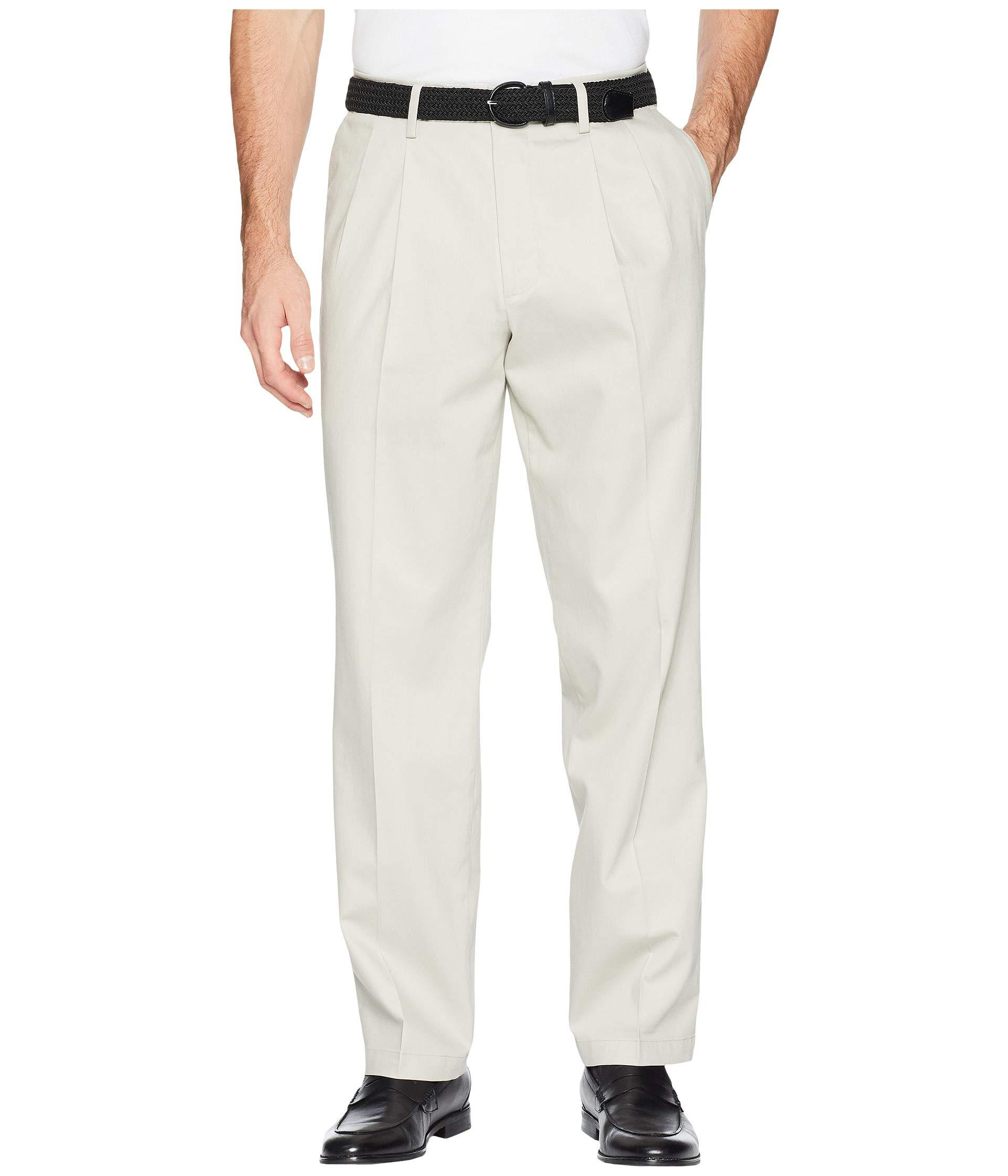 588c9fed Dockers. Natural Classic Fit Signature Khaki Lux Cotton Stretch Pants ...