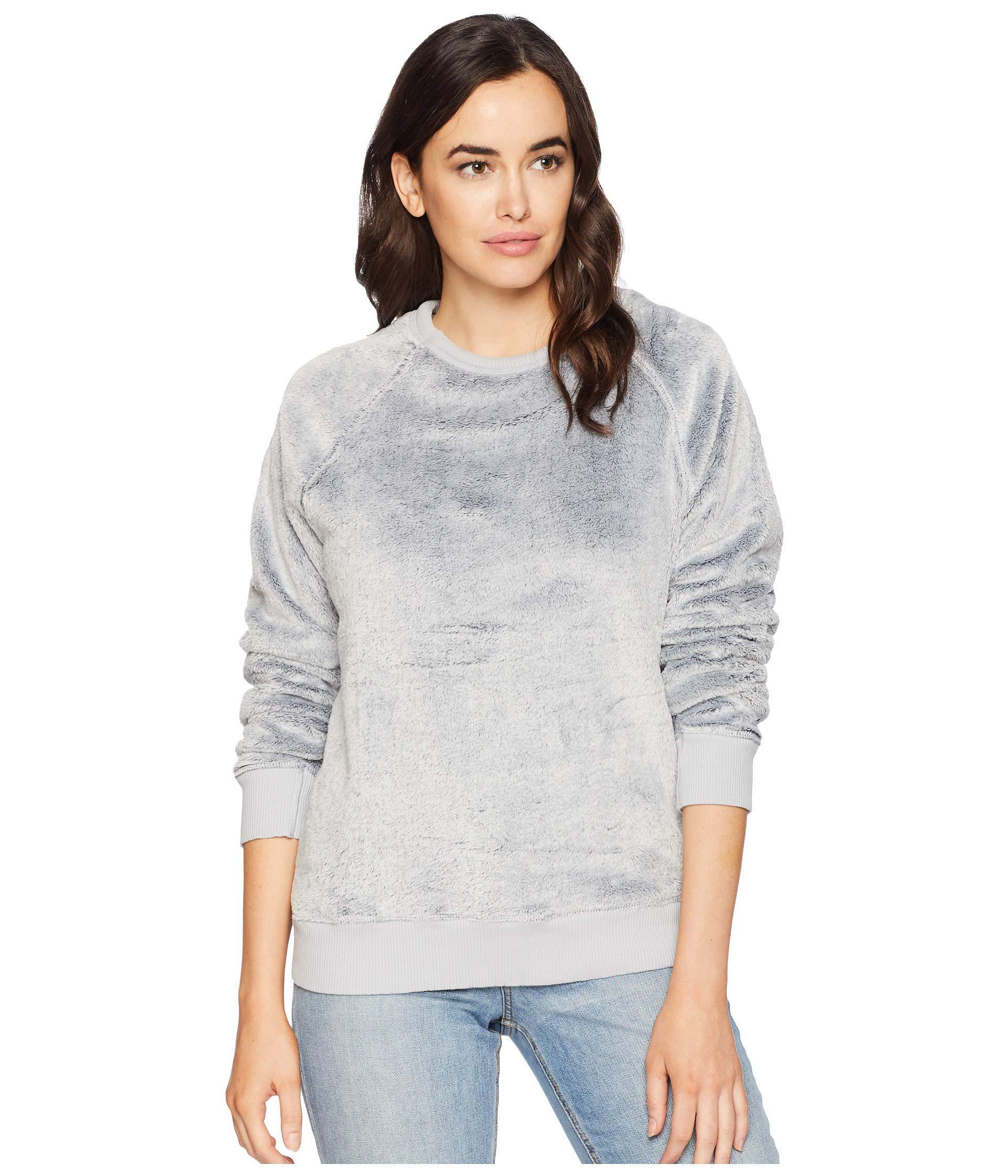 e20981341b5b1 Dylan By True Grit. Sparrow Softest Fleece Fur Raglan Sweatshirt (sparrow  Blue) Women s Sweatshirt