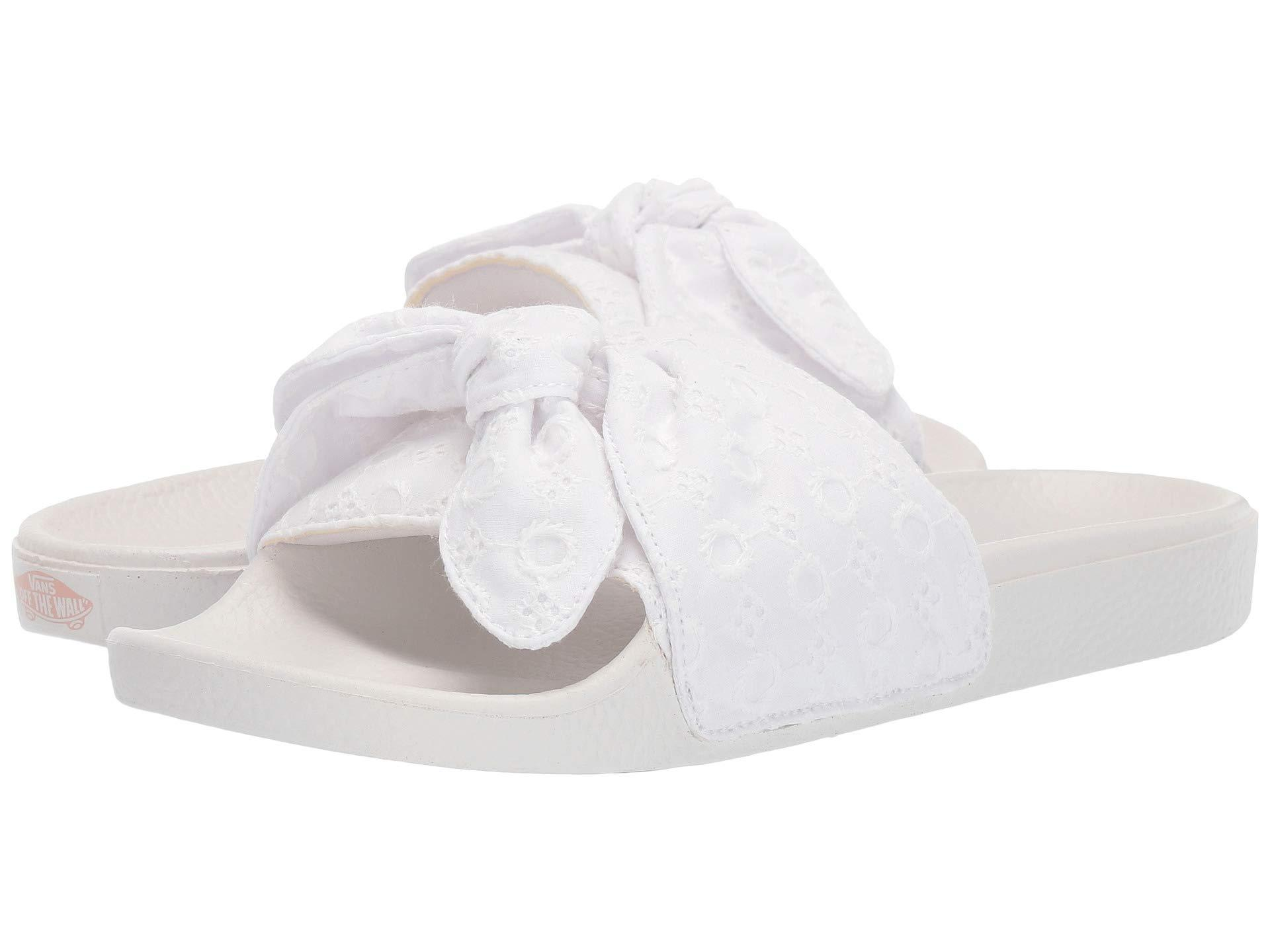 1835429af97f Lyst - Vans Slide-on (() Black) Women s Sandals in White