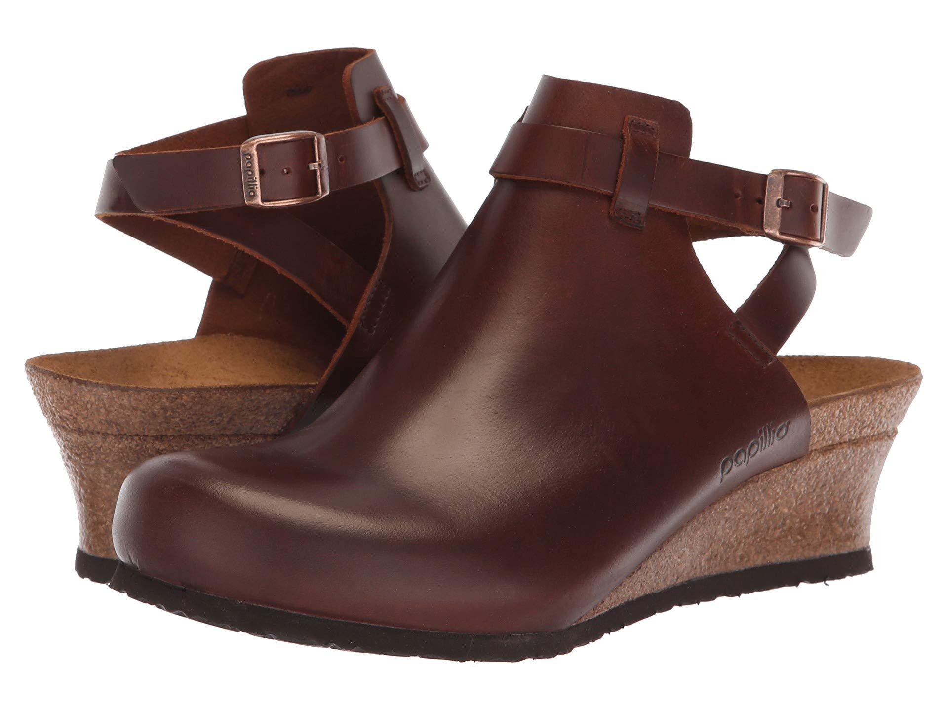 d90983627e1f Lyst - Birkenstock Esra (cognac Leather) Women s Wedge Shoes in Brown