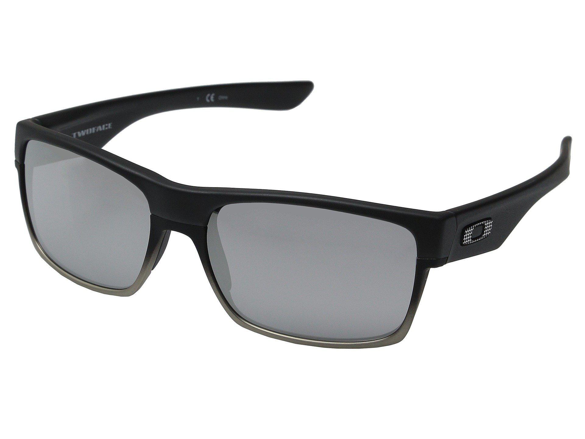 0d4e4fb2fa Lyst - Oakley Two Face (steel grey) Sport Sunglasses in Black for Men