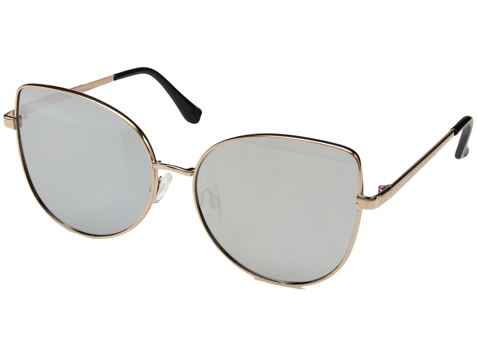 San diego hat company Metal Frame Cat Eyes Sunglasses in Metallic | Lyst