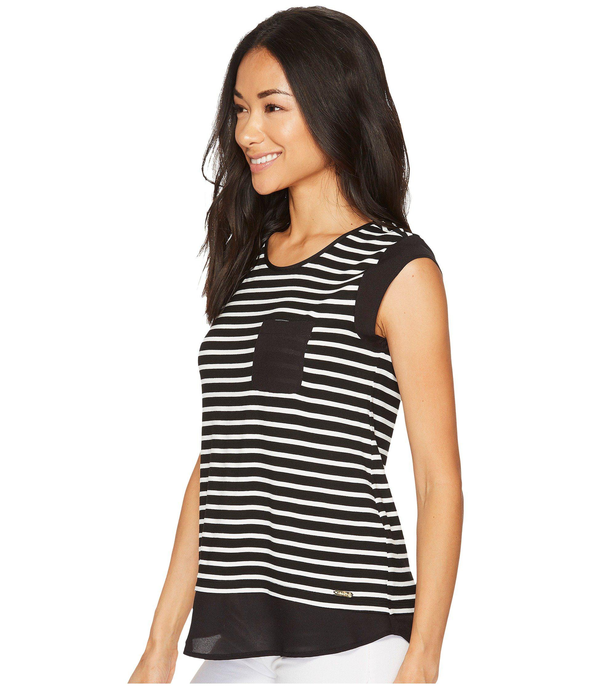 a30f10d8daef2 Lyst - Calvin Klein T-shirt With One-pocket (black birch) Women s T Shirt  in Black