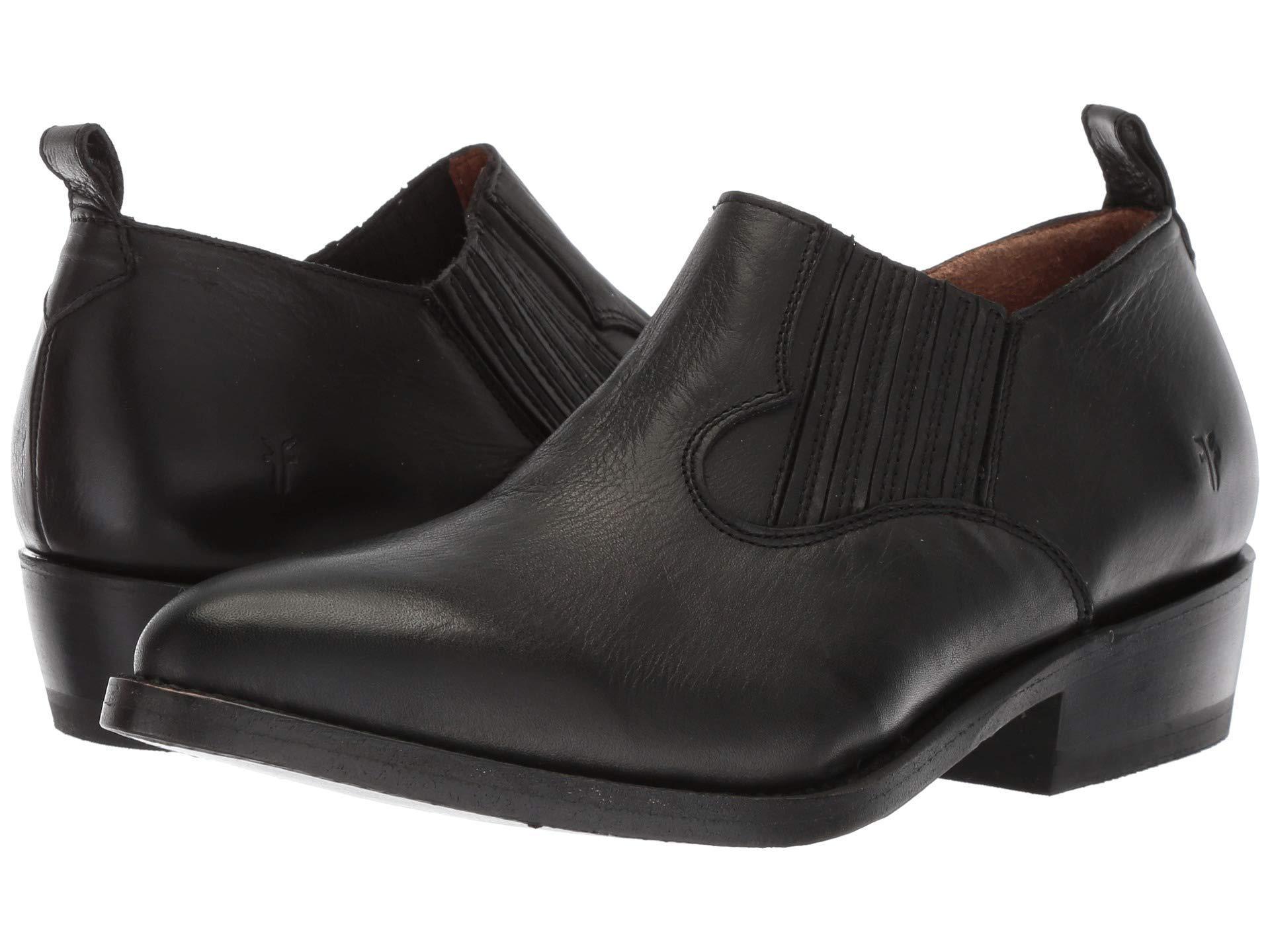 1aef91e45 Frye. Black Billy Shootie (off-white Polished Soft Full Grain) Women s Slip  On Shoes