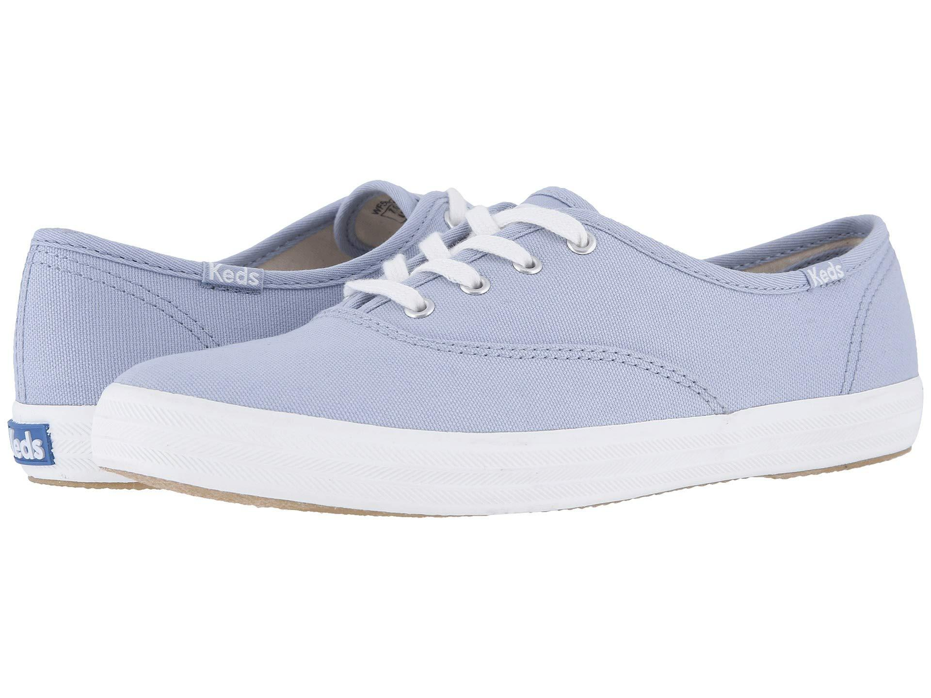 90f7034a7 Keds - Blue Champion Solids (dark Teal Canvas) Women s Shoes - Lyst. View  fullscreen