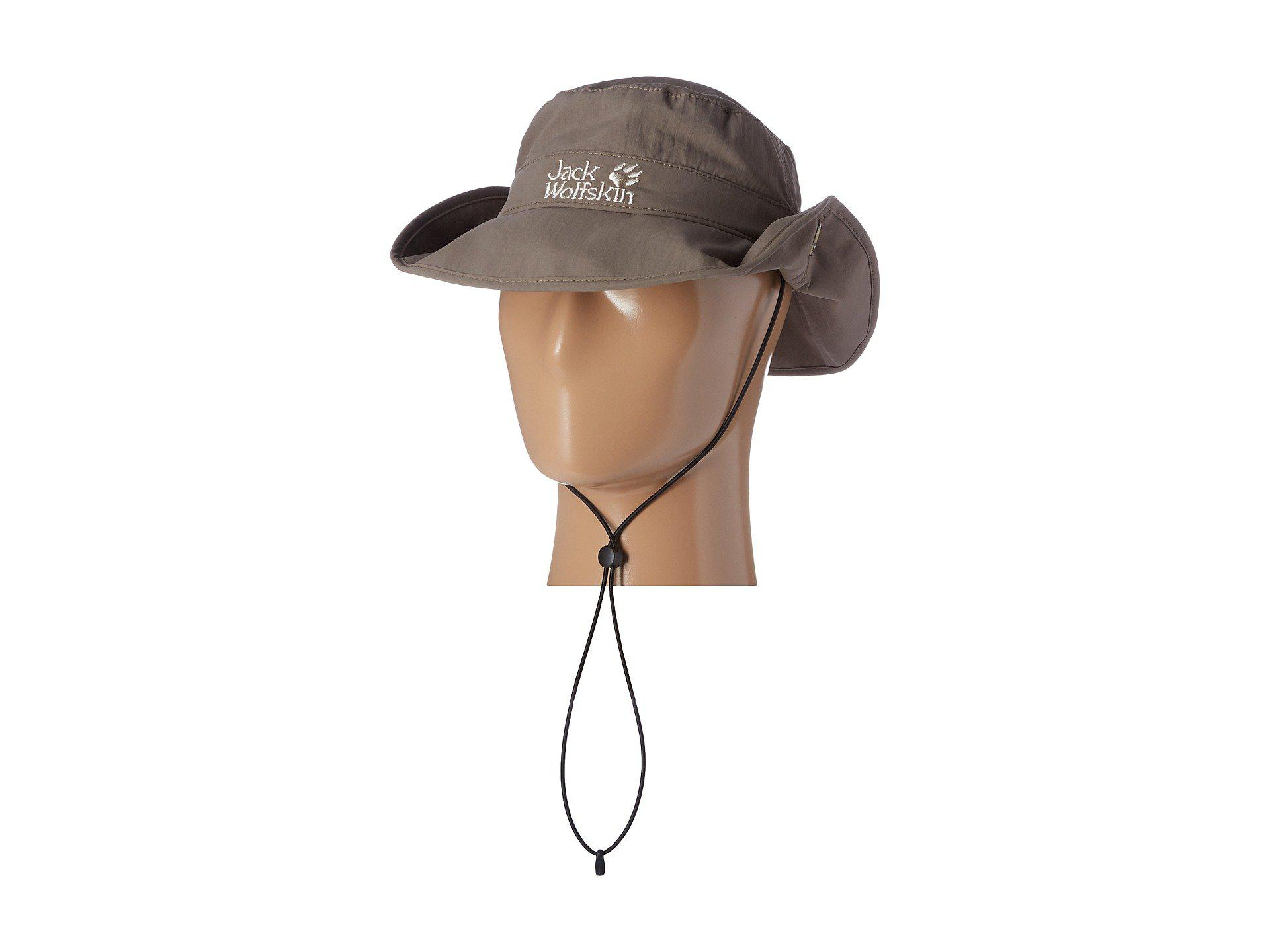b4dbe1af Jack Wolfskin Supplex Mesh Hat (siltstone) Caps in Natural for Men ...