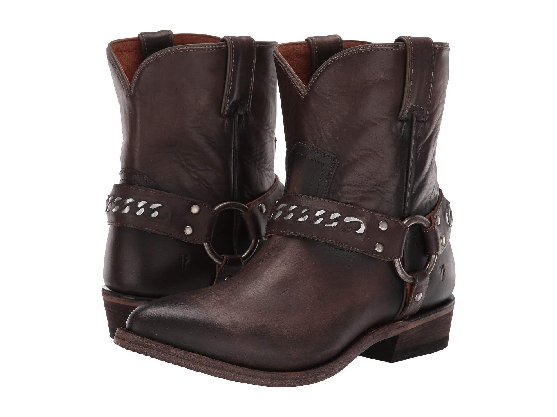 19e83965376 Frye. Billy Chain Short (black Multi Painted Metallic Full Grain) Women s  Boots