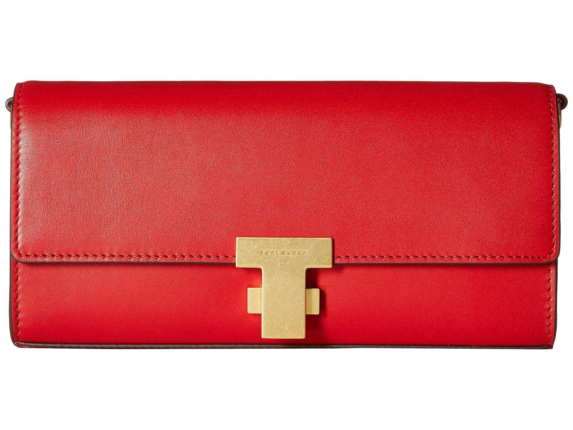 070ce524c4 Lyst - Tory Burch Juliette Clutch (black) Clutch Handbags in Red