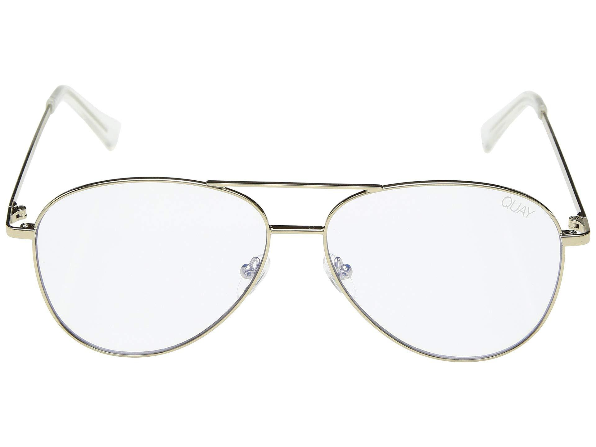 d870d6d4a2 Lyst - Quay Still Standing - Blue Light Glasses (gold clear Blue ...