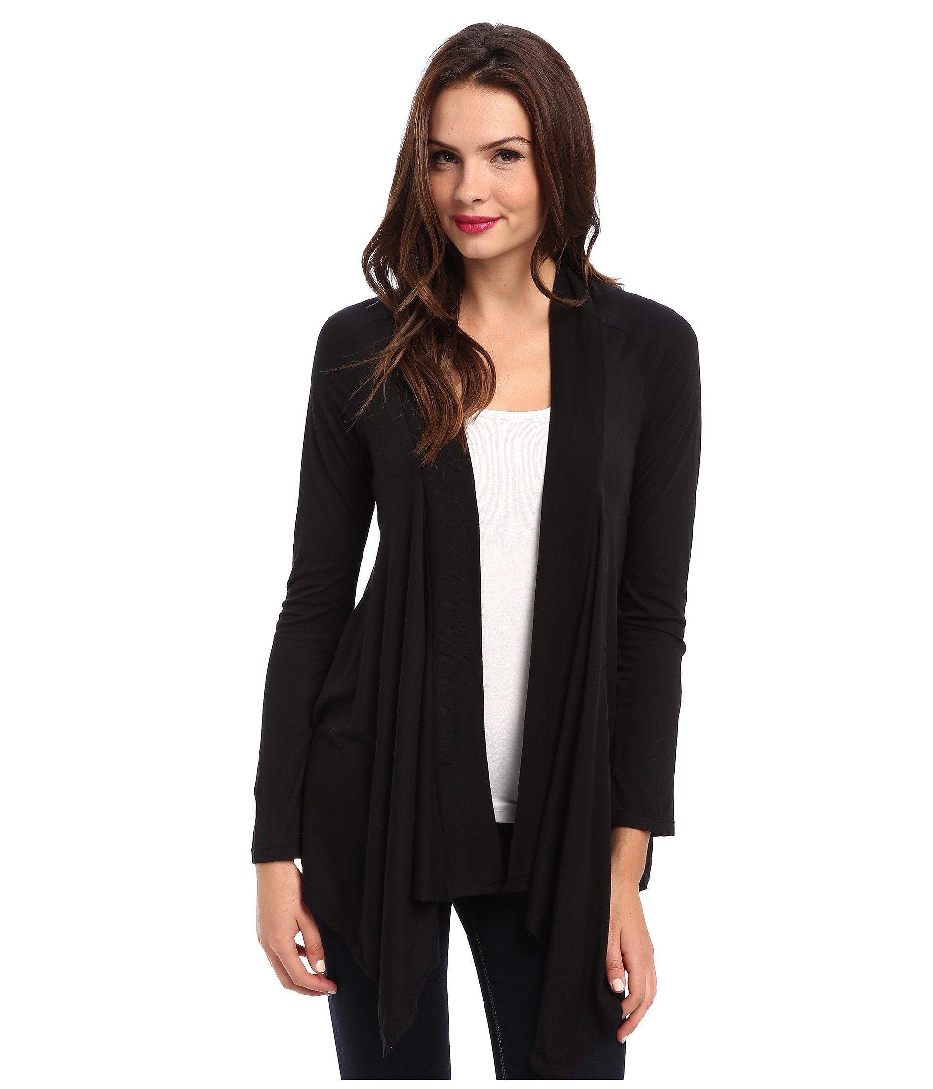 drapes fleece nordstrom product thought cardigan shop threads black rack drape of markesha image